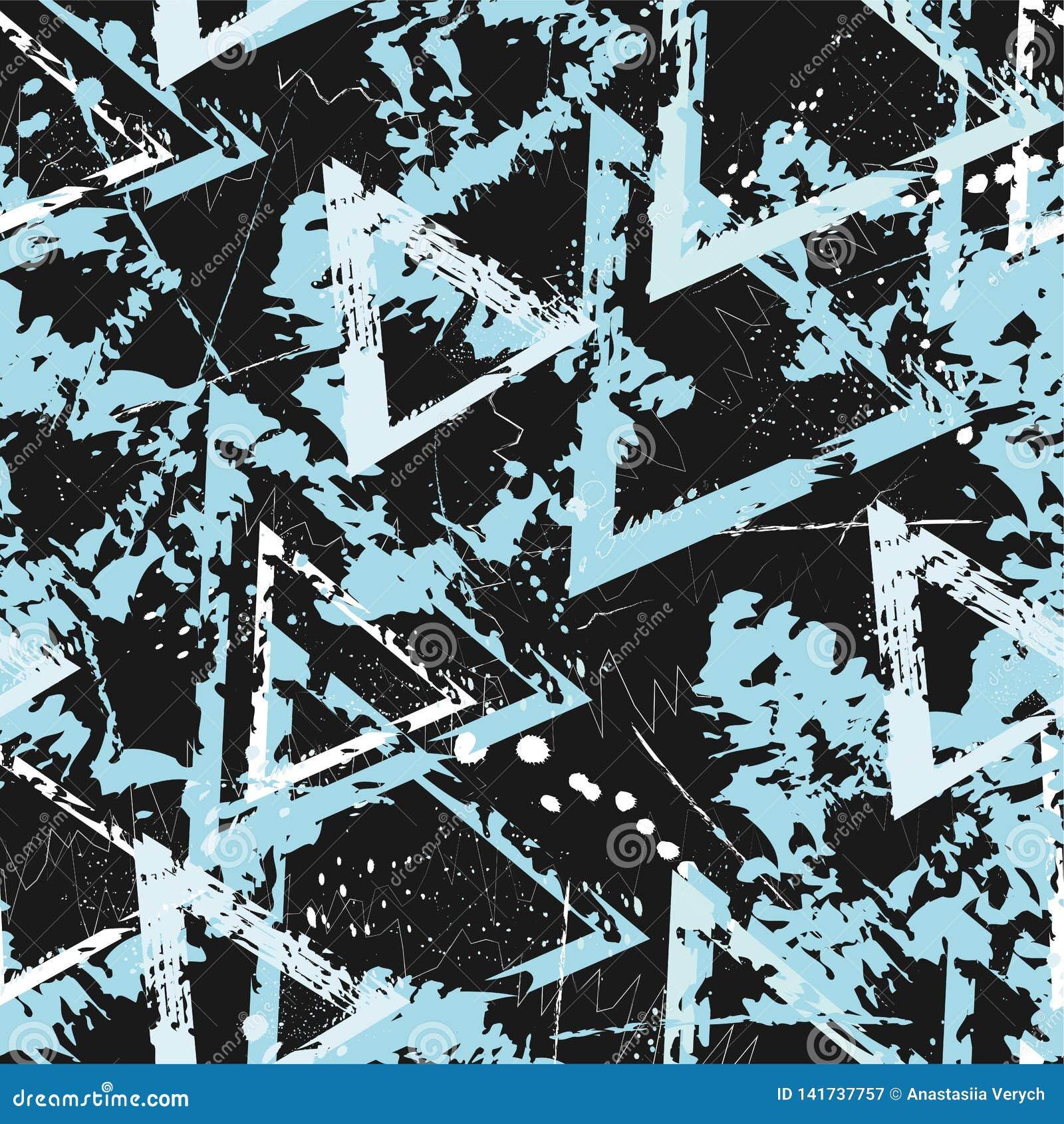 Het naadloze patroon van de manier Gevlekte vectortextuur voor stof, dekking, druk, verpakkend document Abstracte samenstelling K