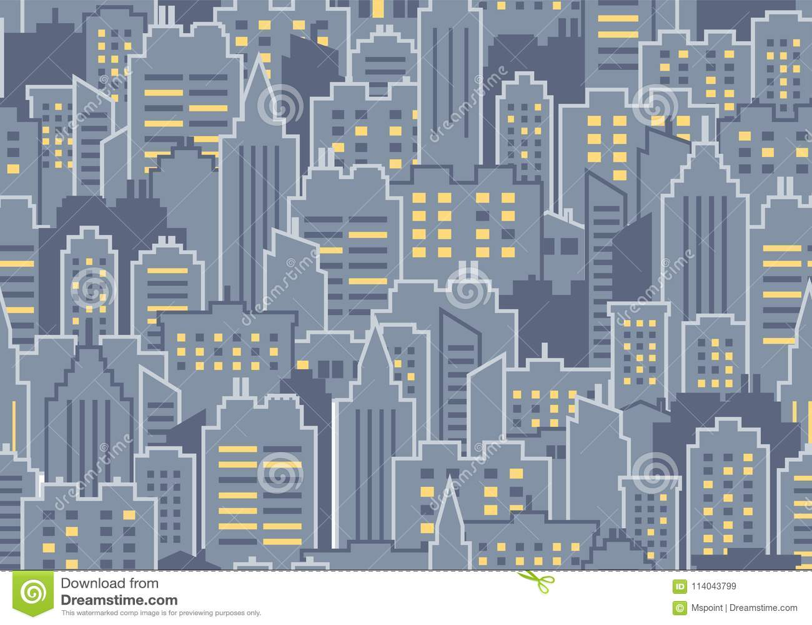 Het naadloze patroon van de stad