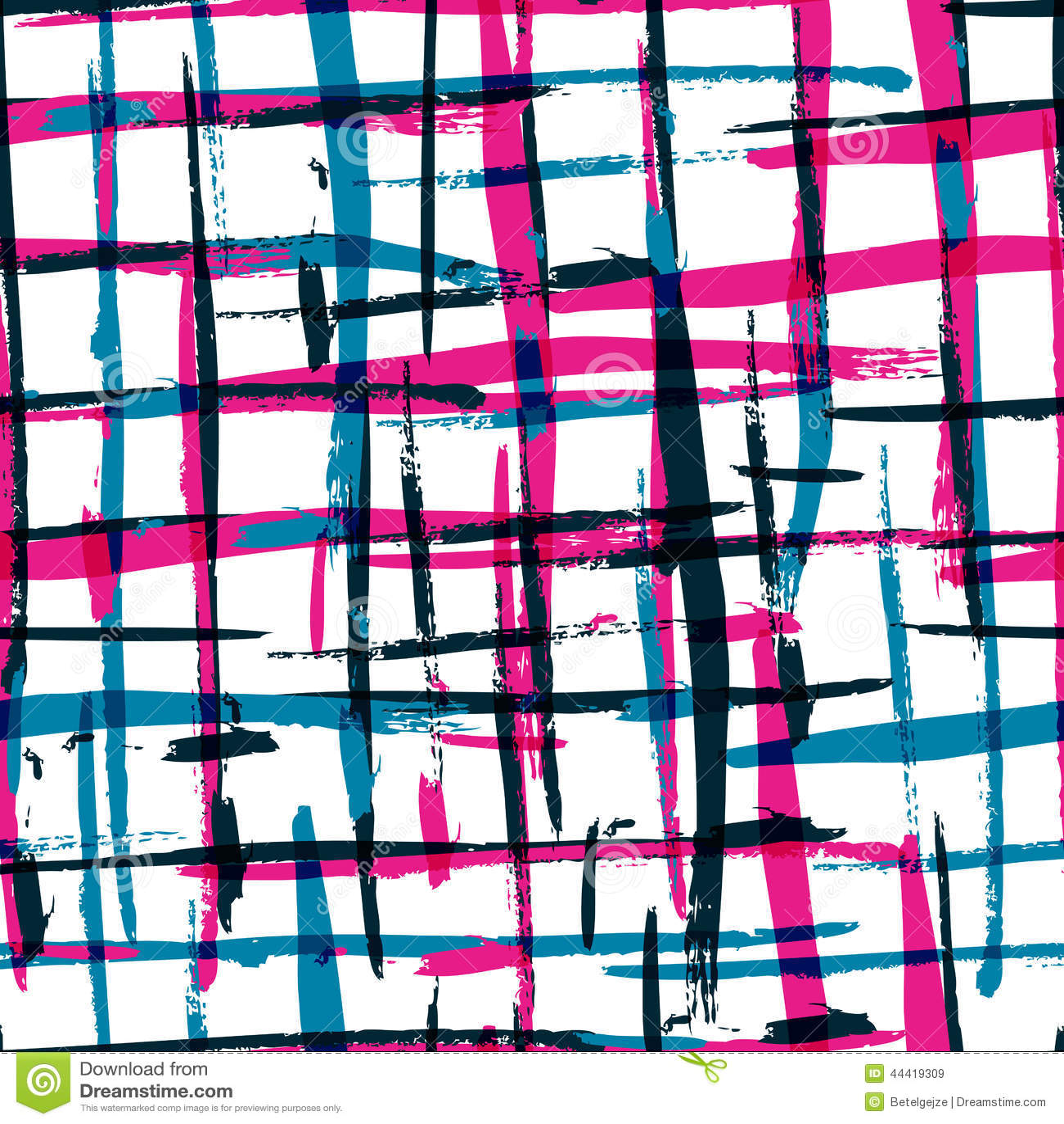 Het naadloze patroon van de waterverf gewaagde plaid met kleurrijke strepen Ve