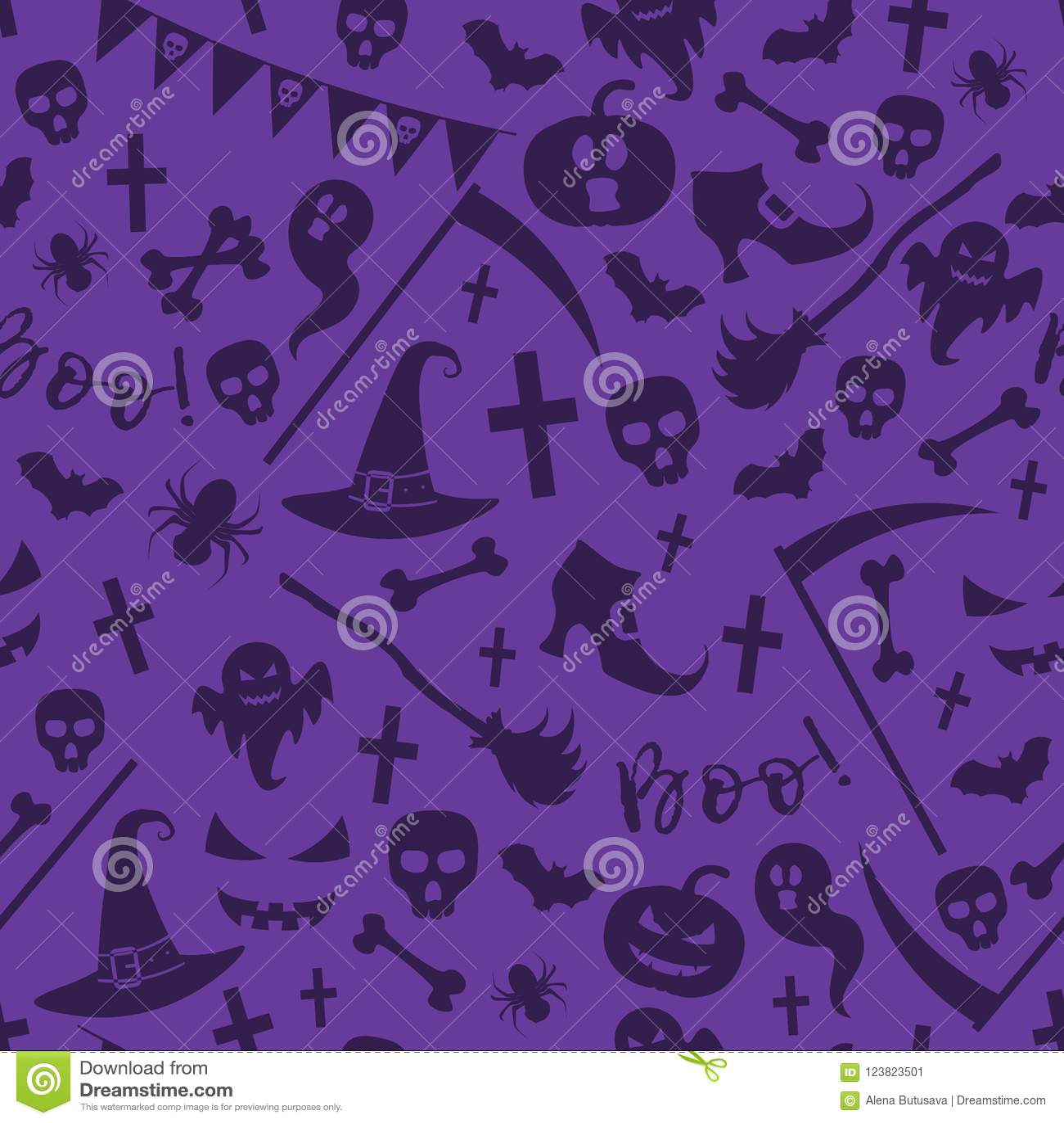 Het naadloze patroon van Halloween