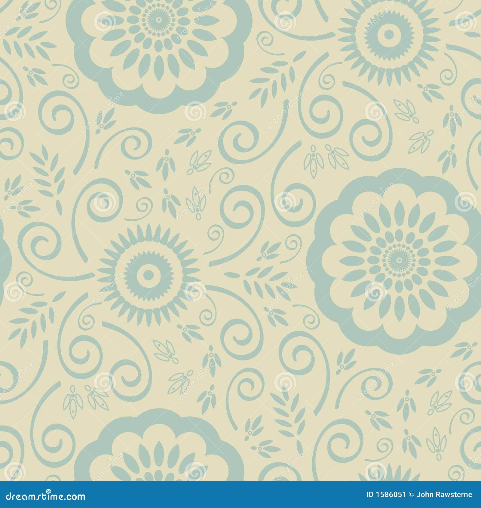 Het naadloze patroon van het behang stock illustratie afbeelding 1586051 - Groen behang van het water ...