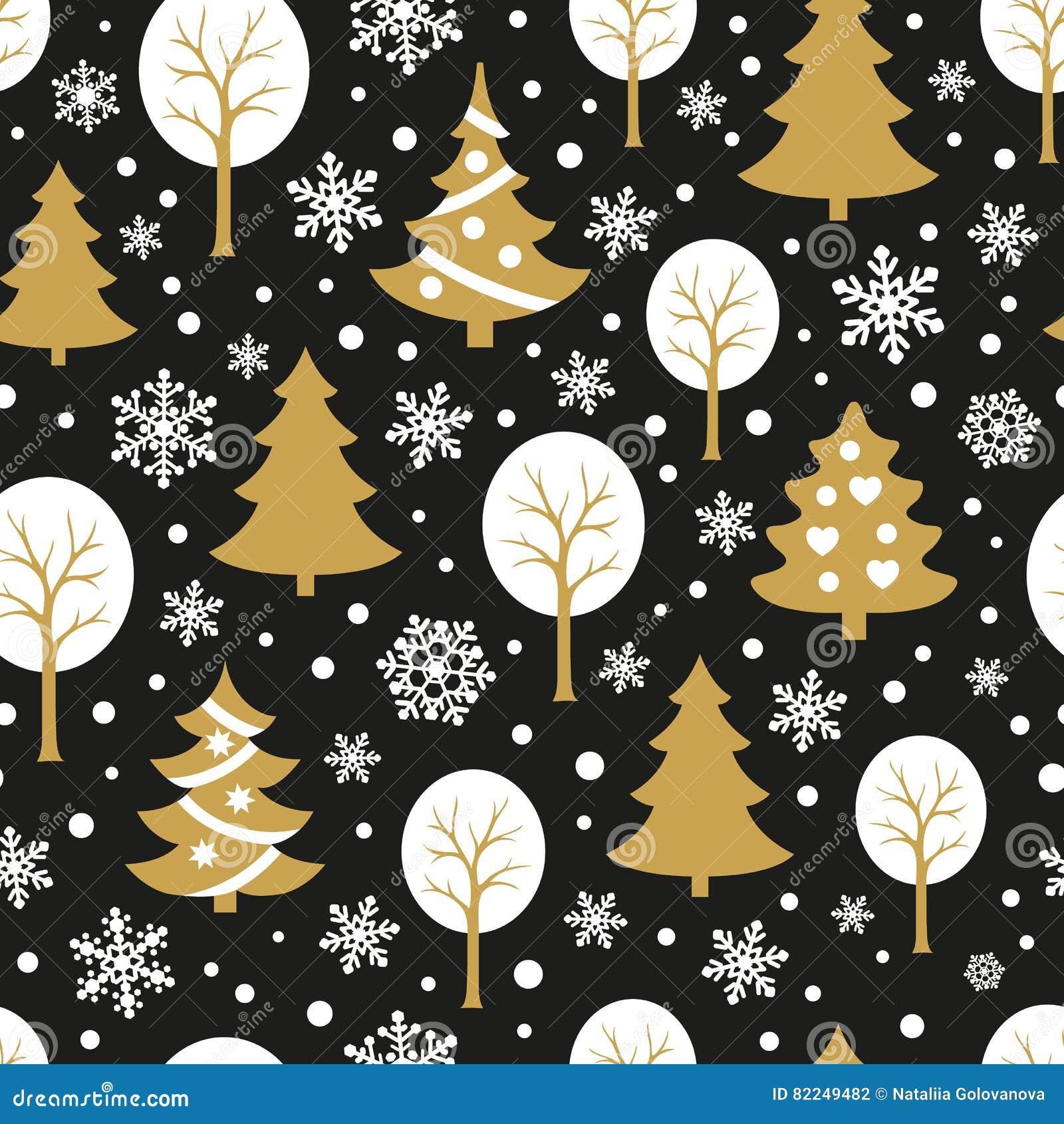 Het naadloze patroon van Kerstmis