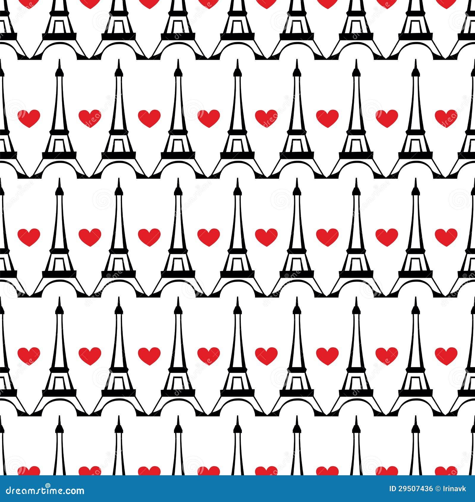 Het naadloze patroon van Parijs