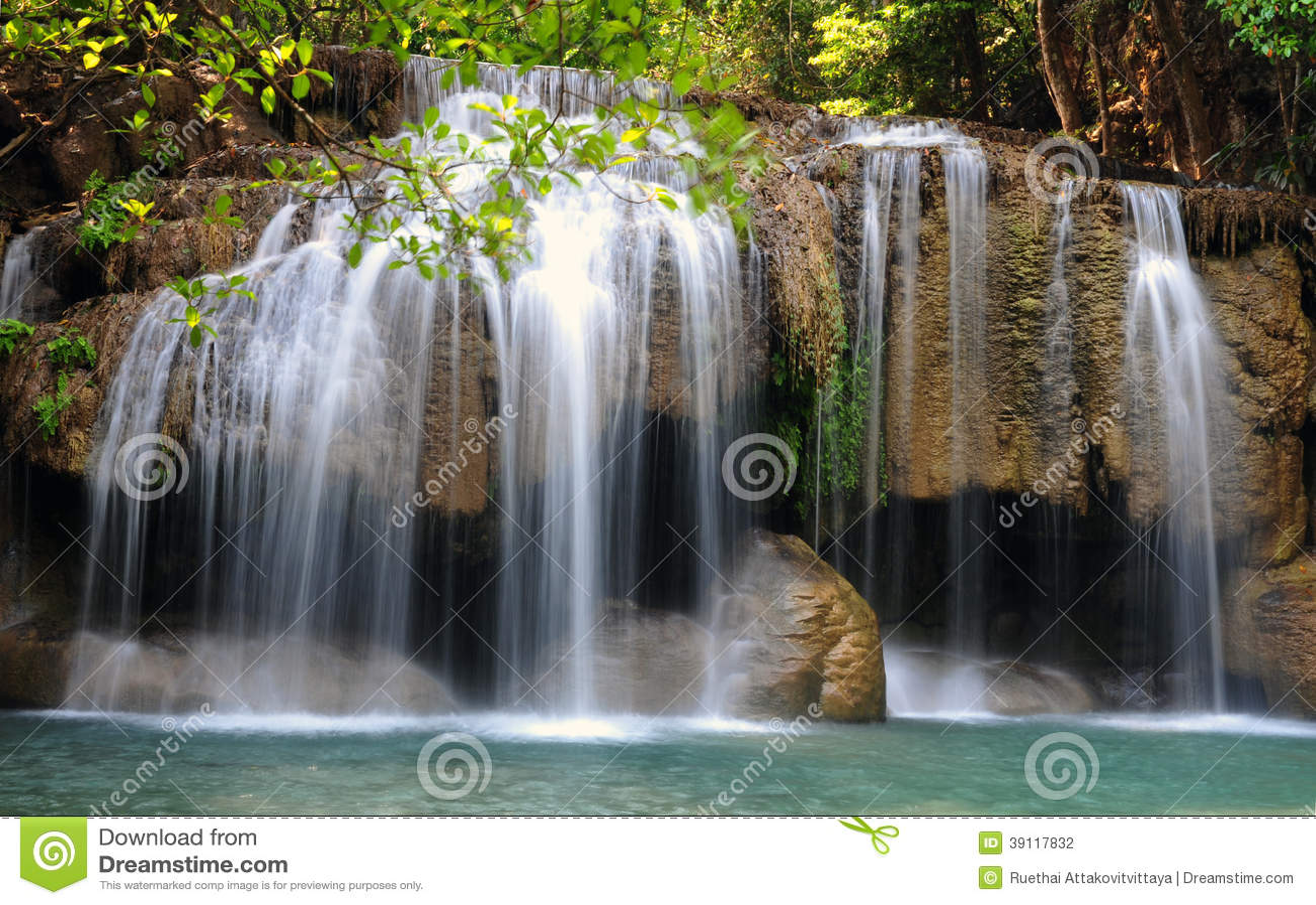Het Nationale Park van de Erawanwaterval