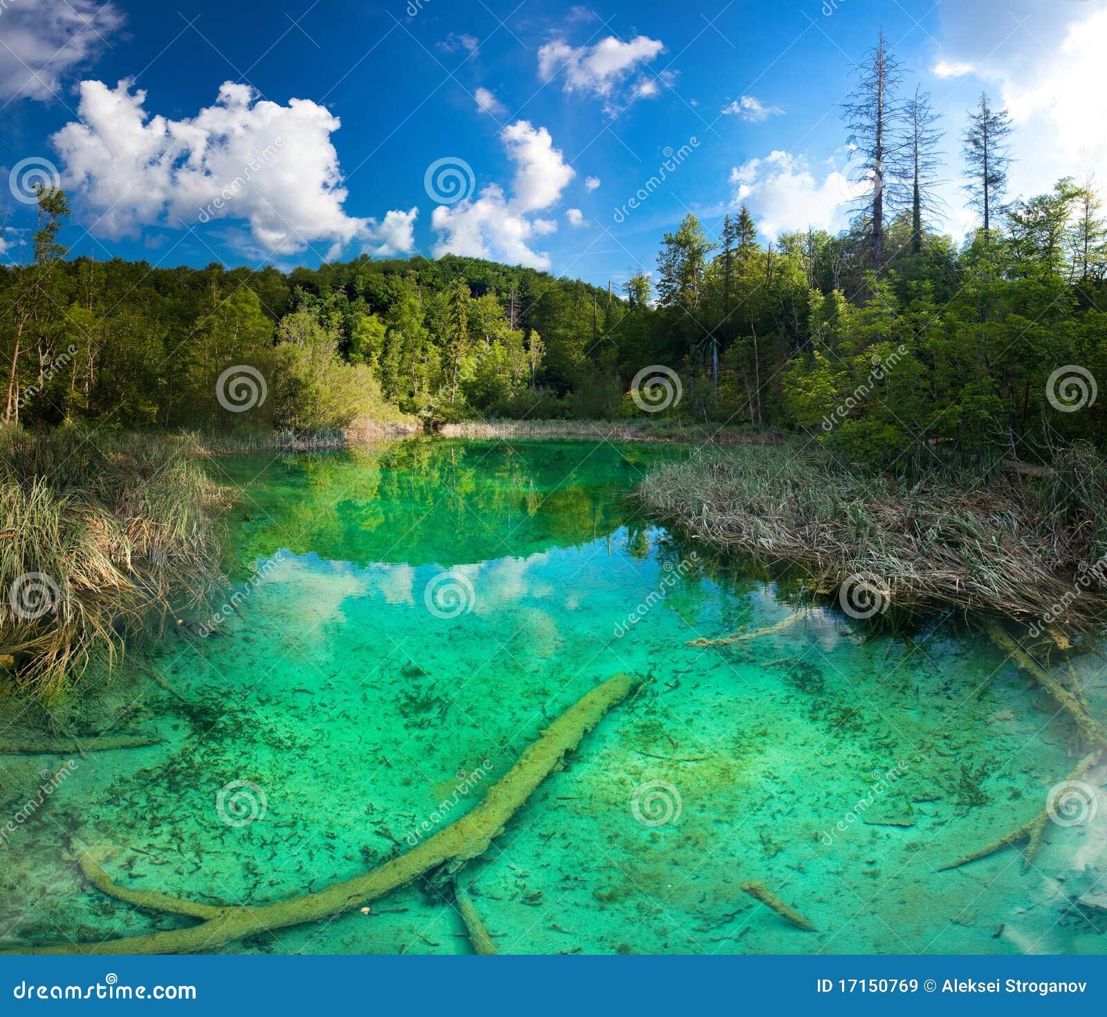 Het Nationale Park van de Meren van Plitvice in Kroatië.