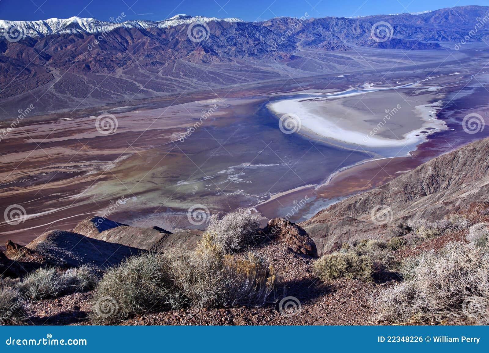 Het Nationale Park van de Vallei van de Dood van de Mening van Dante van Badwater