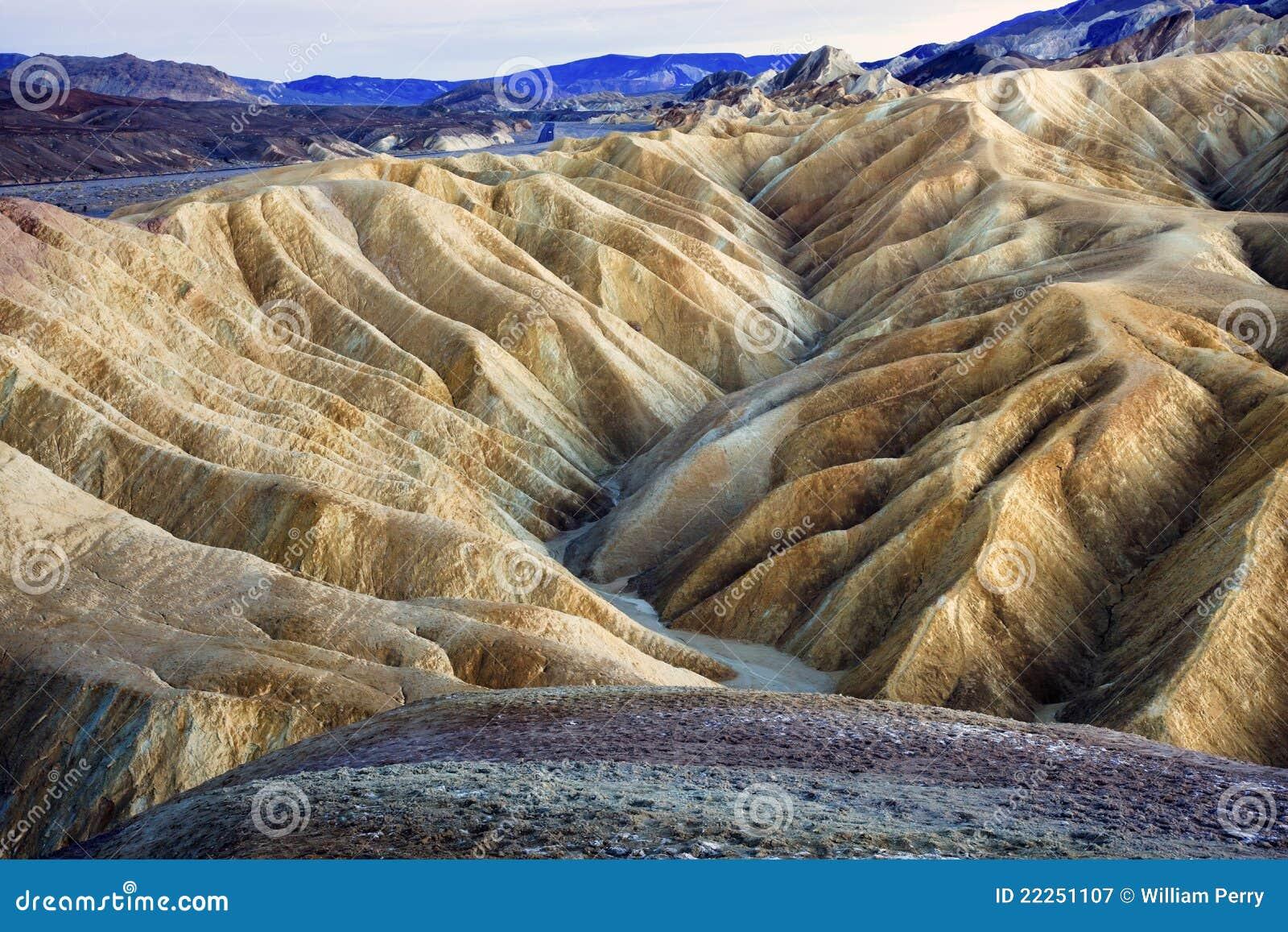 Het Nationale Park van de Vallei van de Dood van het Punt van Zabruski