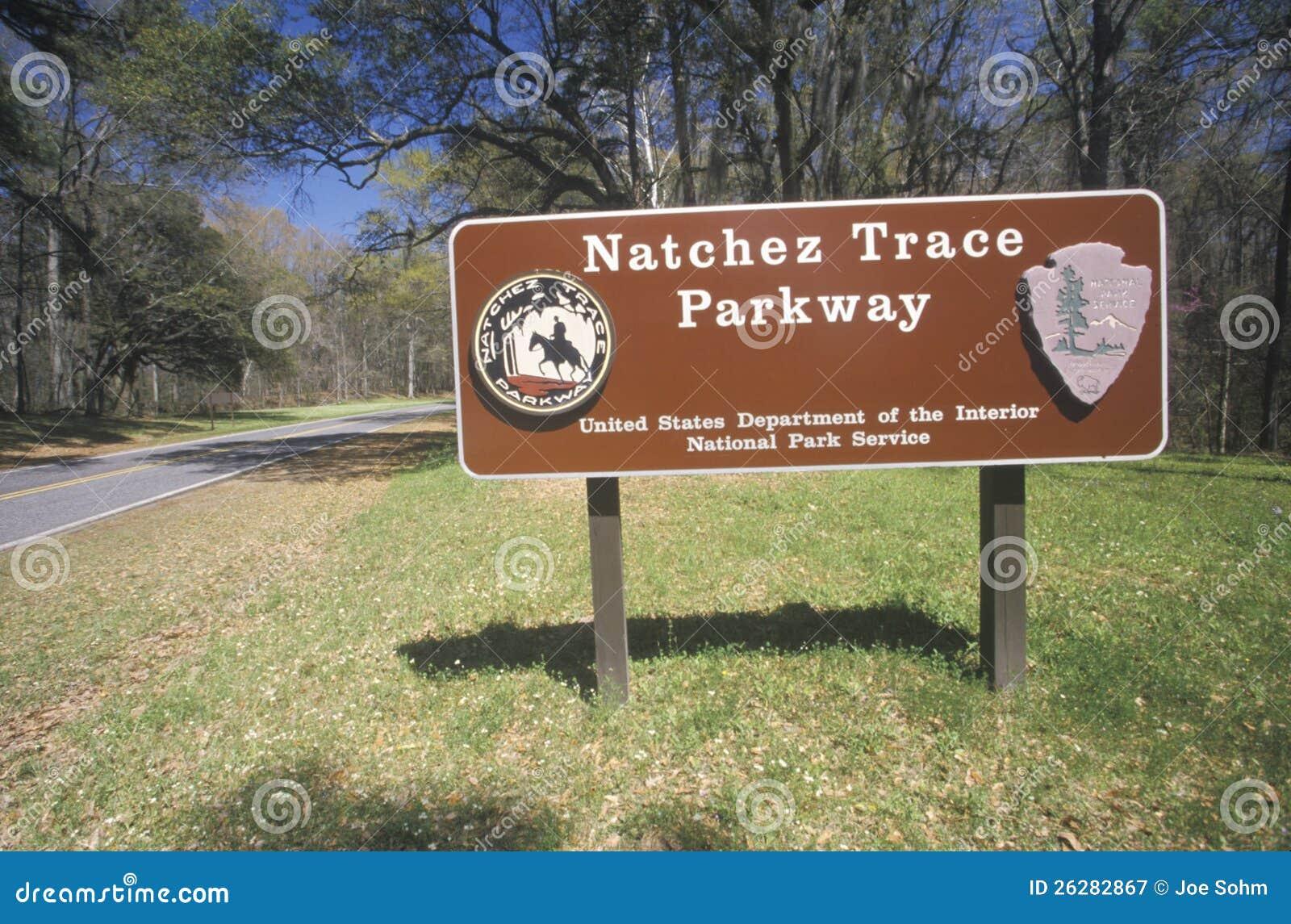 Het Nationale Park van het Spoor van Natchez