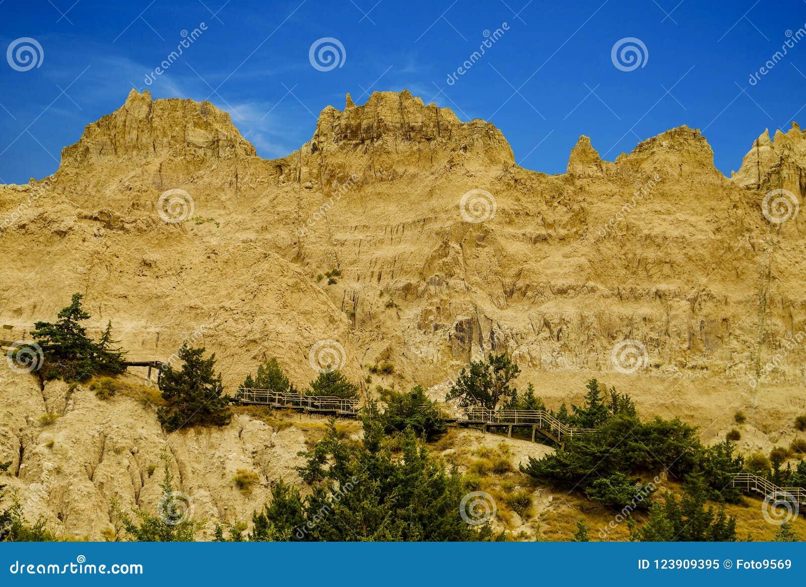Het Nationale Park van panoramabadlands, Zuid-Dakota, de V.S.