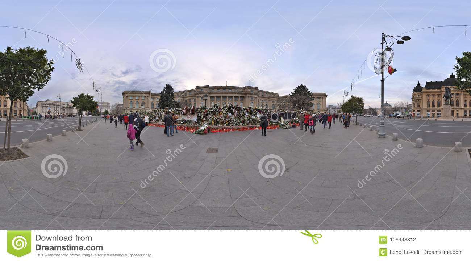 Het nationale Rouwen na het overlijden van Michael I in Royal Palace in Boekarest, Roemenië