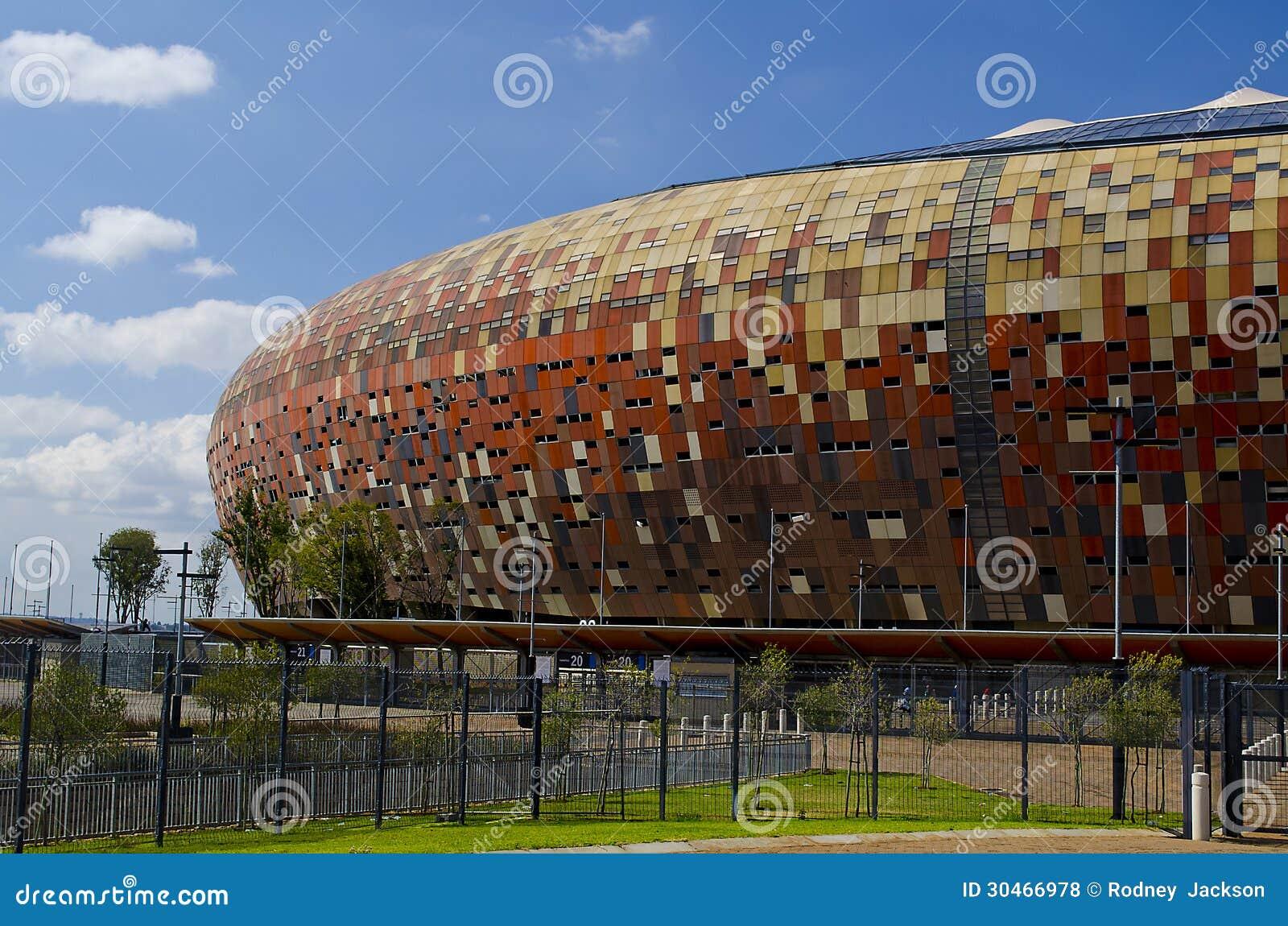 Het nationale Stadion buiten Soweto
