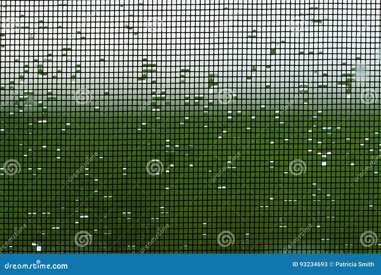 Het natte vensterscherm