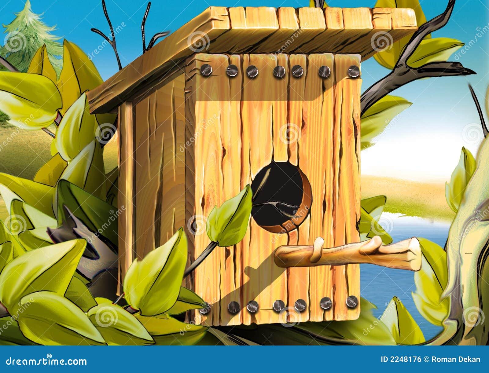 Het nestelen doos voor vogels