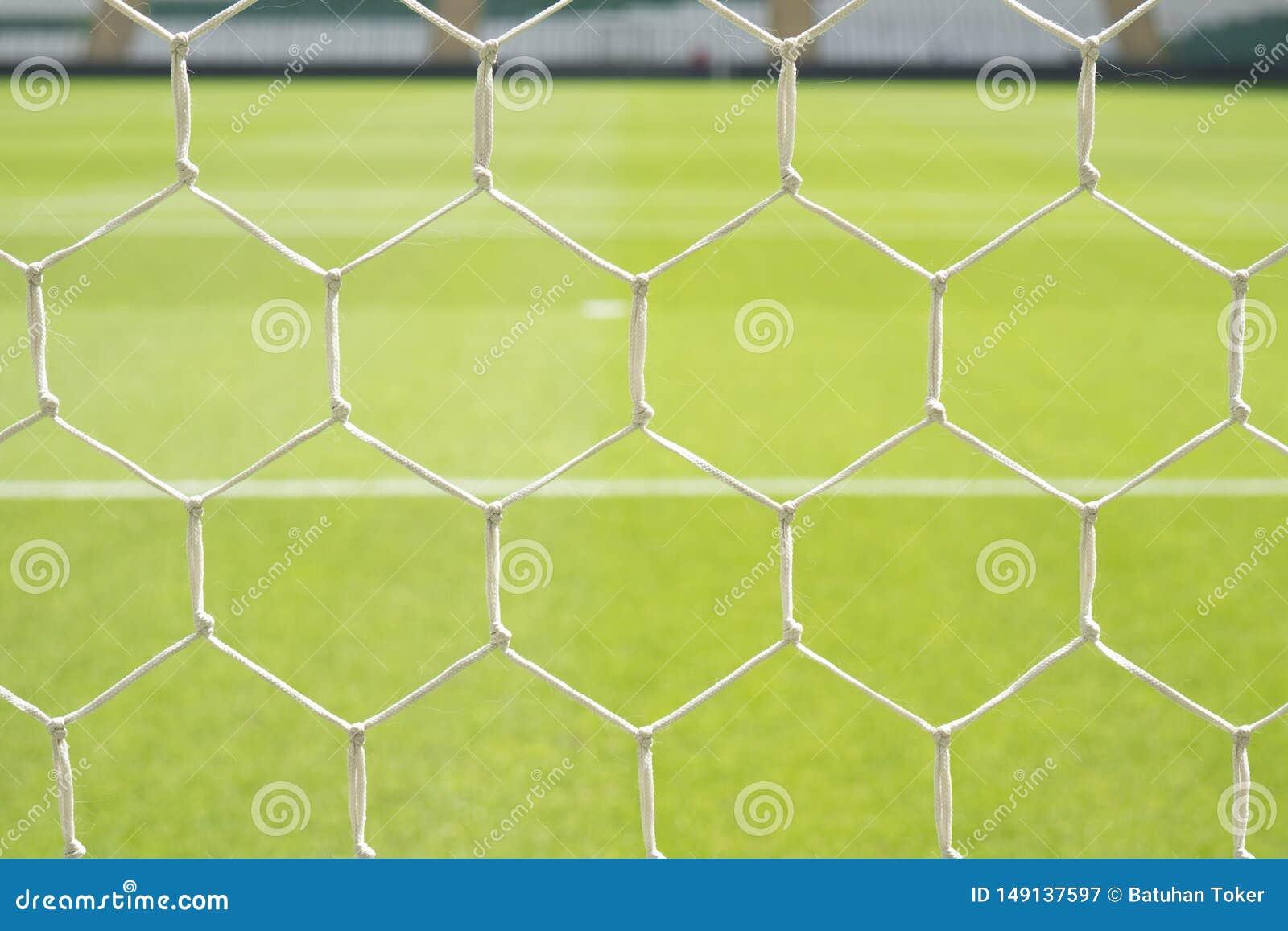 Het Netto Close-up van het voetbaldoel