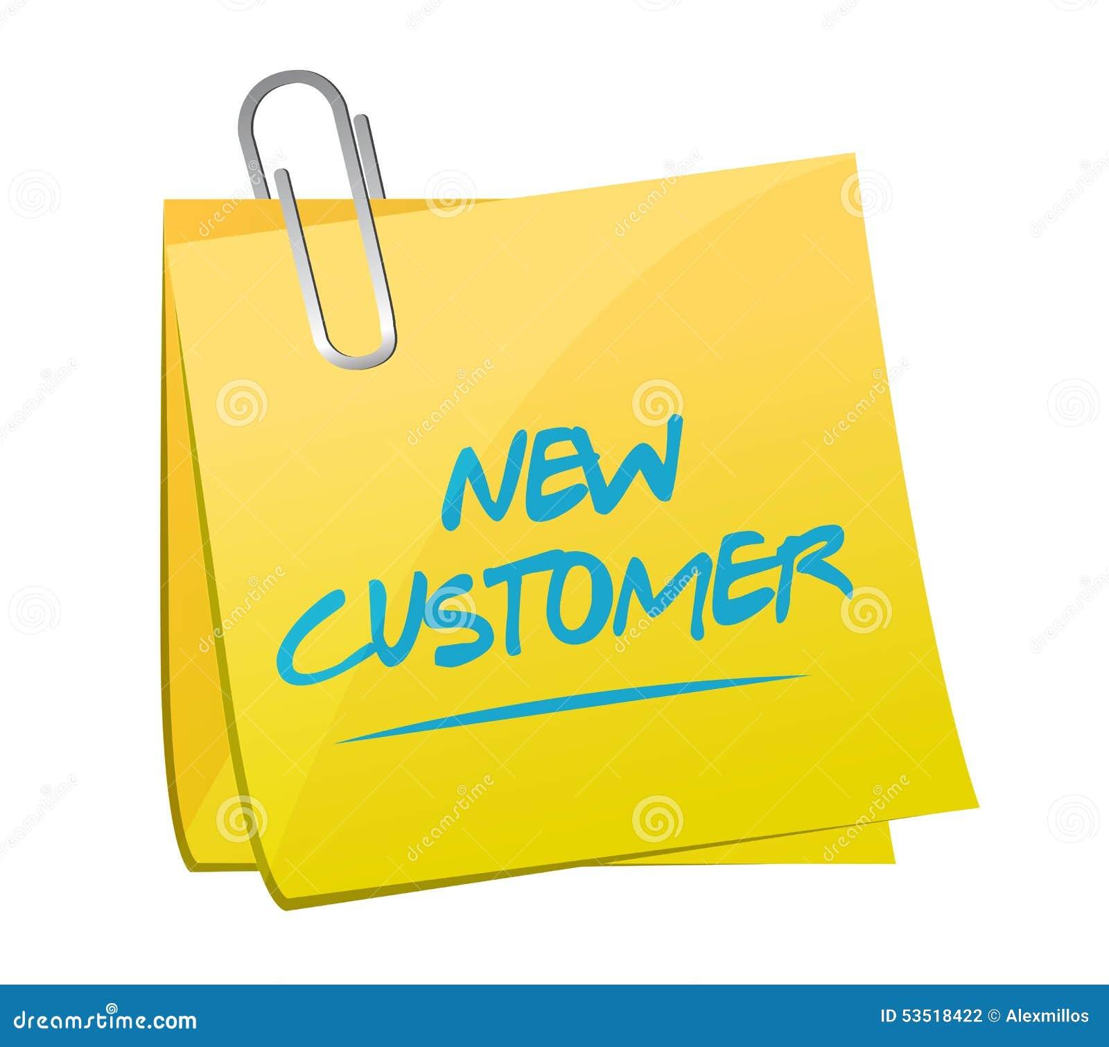 Het nieuwe concept van het klanten postteken