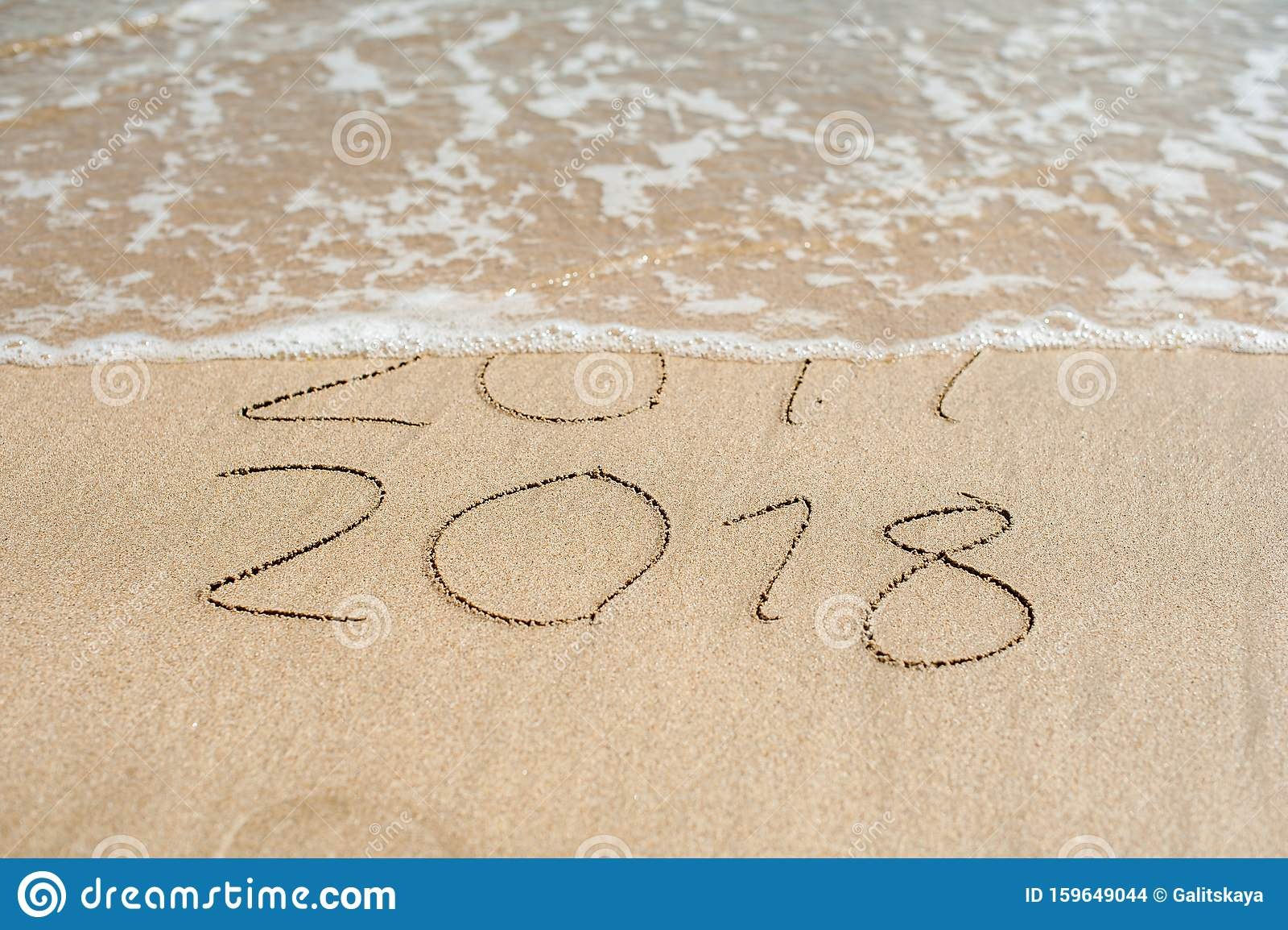 Het Nieuwe Jaar 2018 Komt Er Op Het Programma