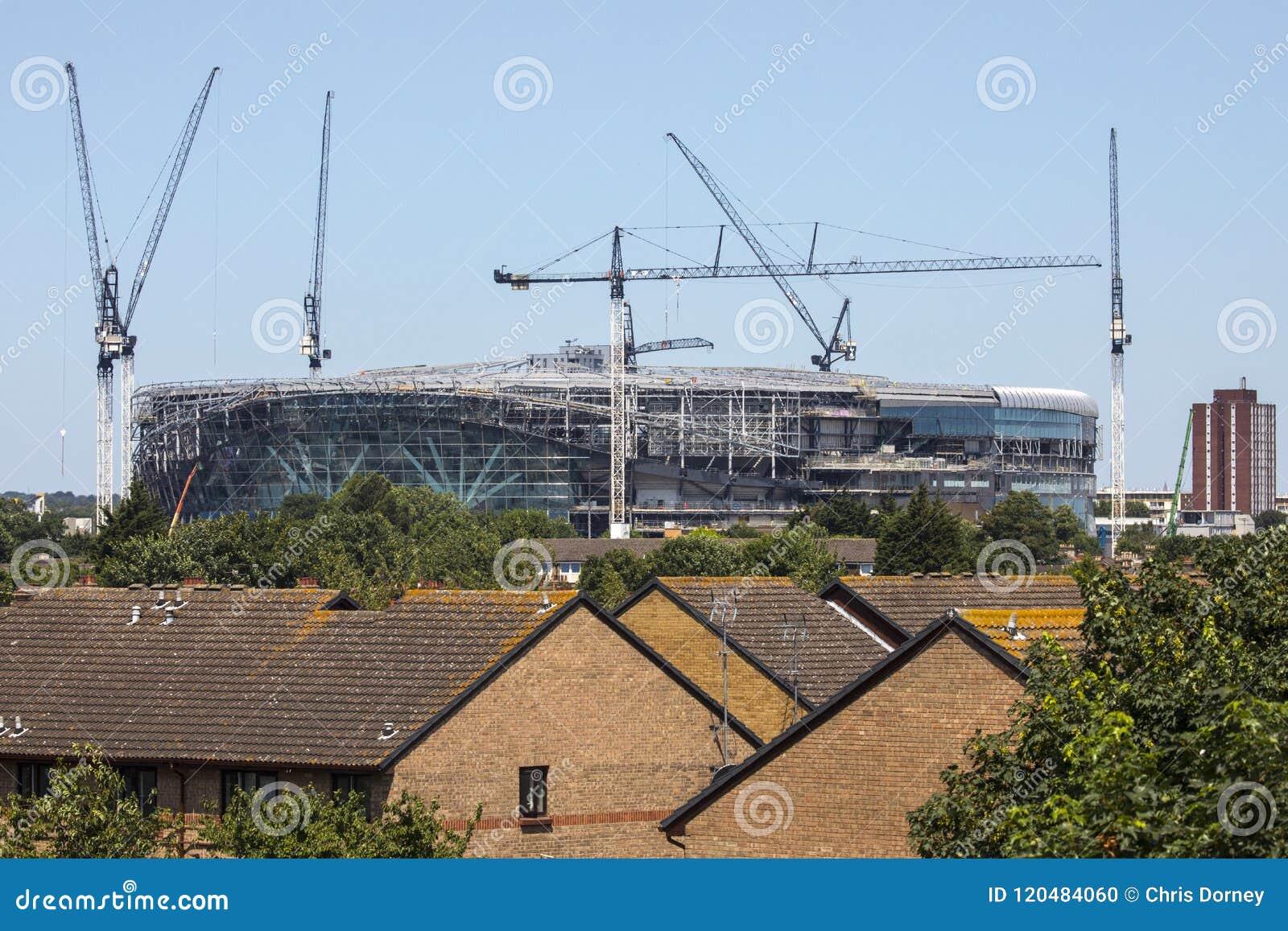 Het nieuwe Stadion van Tottenham Hotspur in aanbouw