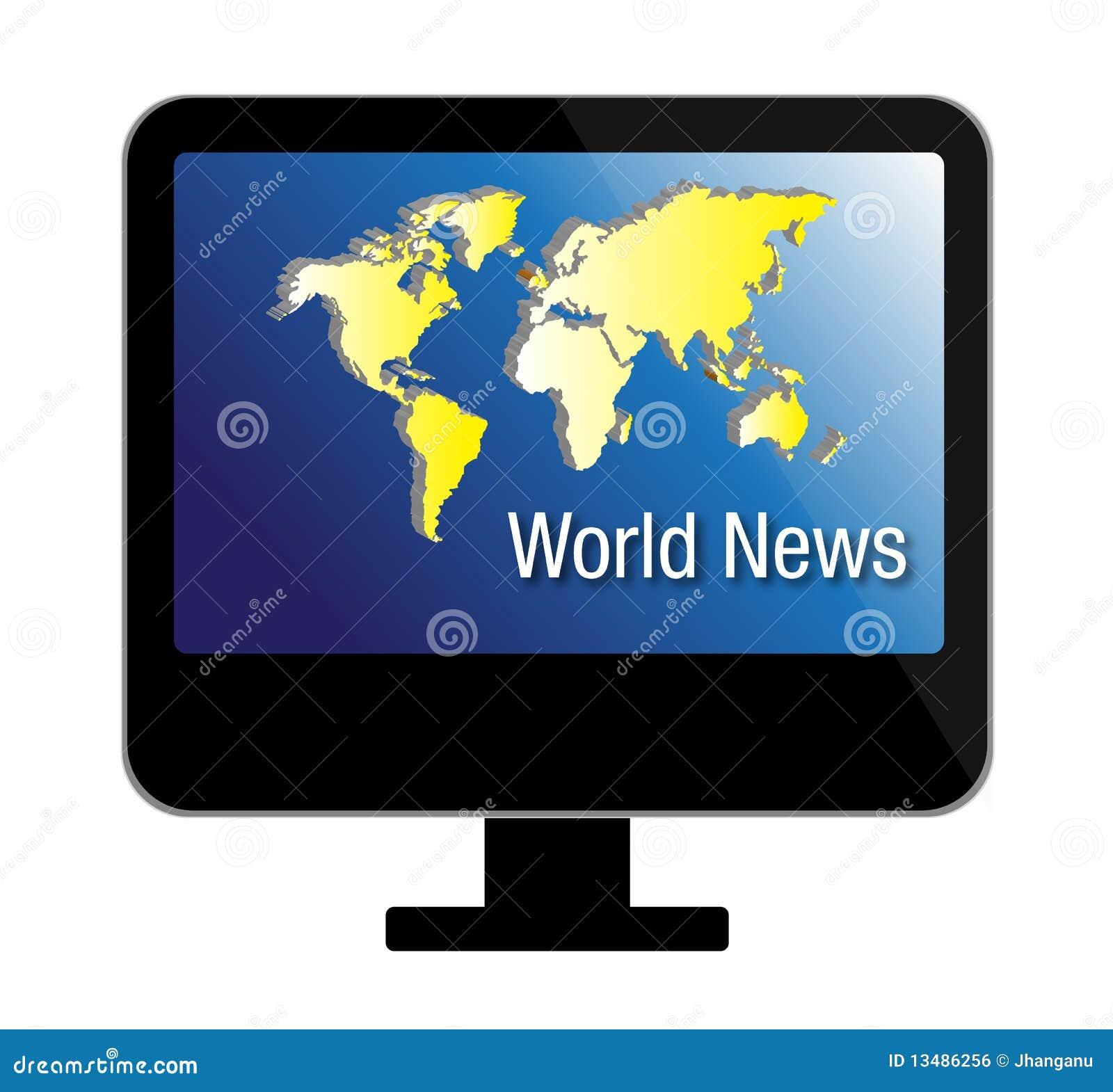Het nieuws van de wereld op de vertoning van tv royalty vrije stock afbeelding afbeelding - Tv josephine huis van de wereld ...
