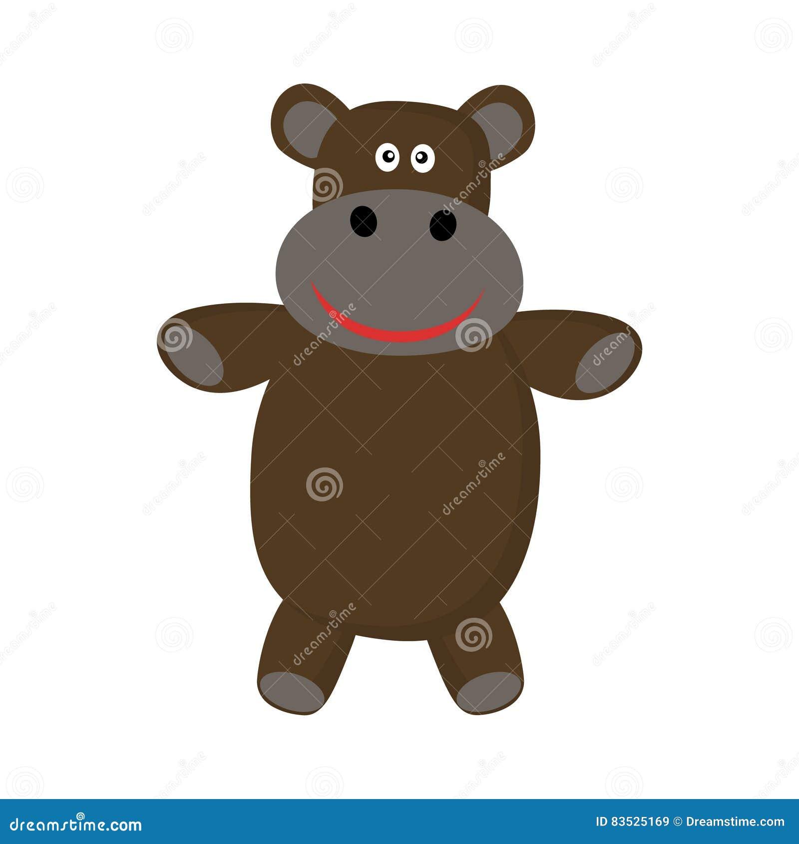 Het nijlpaard van het beeldverhaal