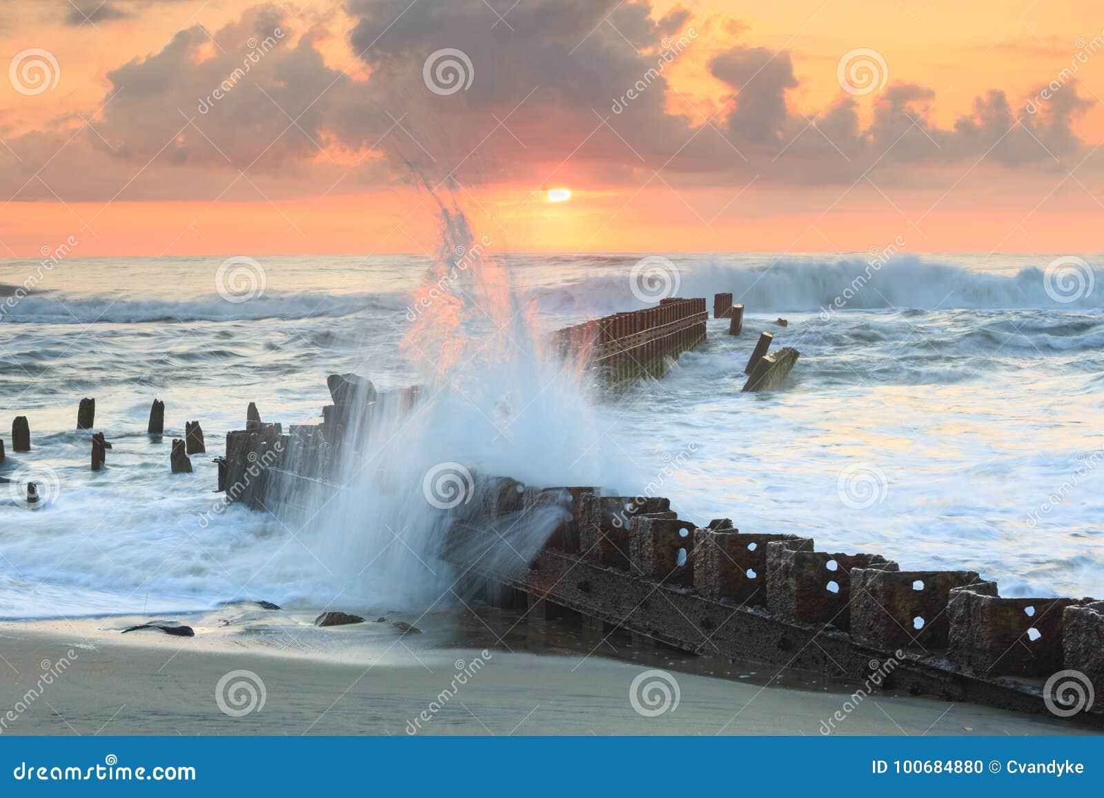Het noorden Carolina Ocean Sunrise
