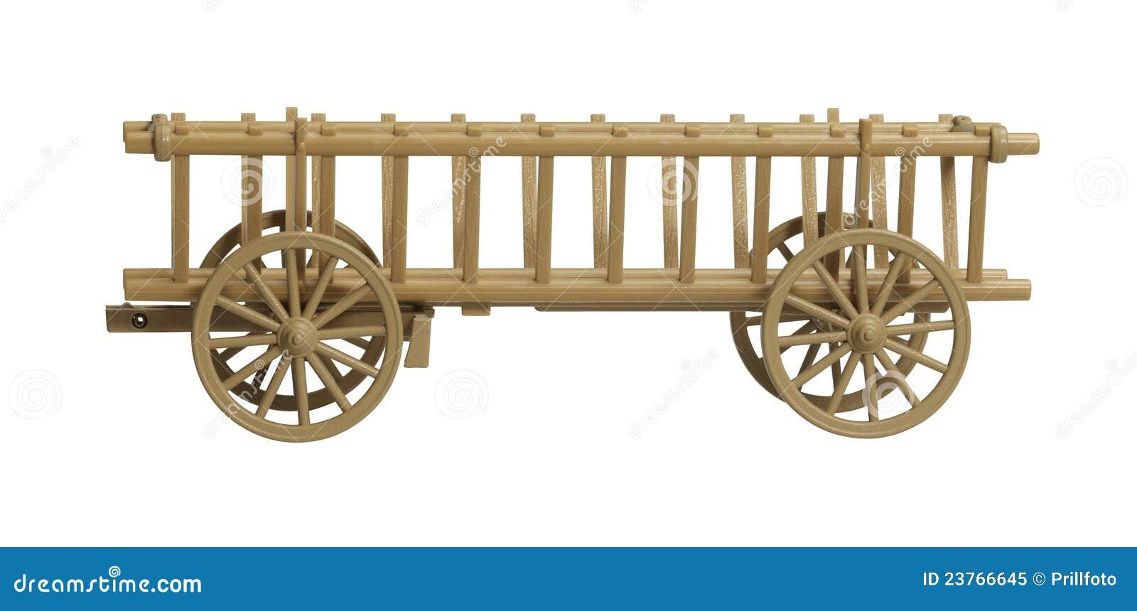 Het Nostalgische Model Van De Hooiwagen Royalty-vrije ...