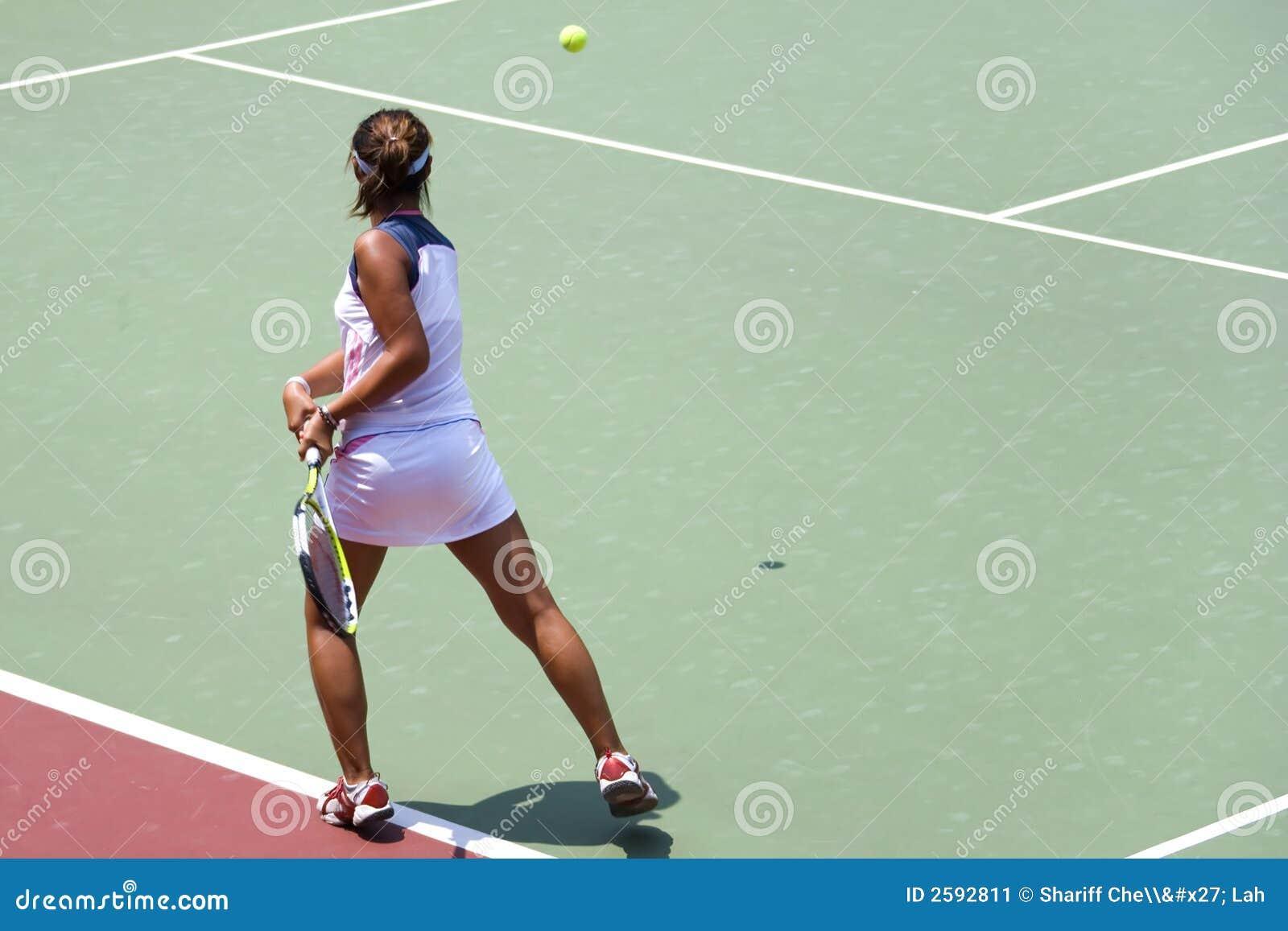 Het ondergeschikte Tennis van Dames