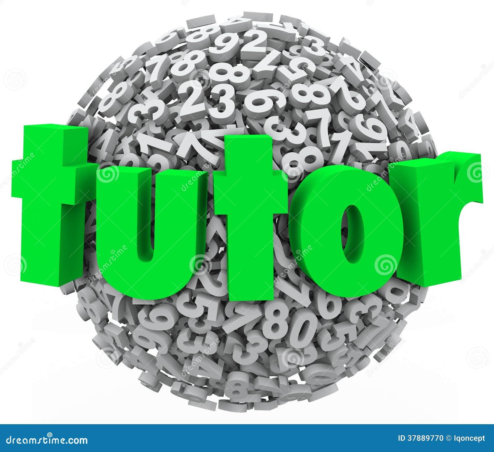 Het Onderwijsprivé-les van privé-leraarnumber ball sphere het Leren