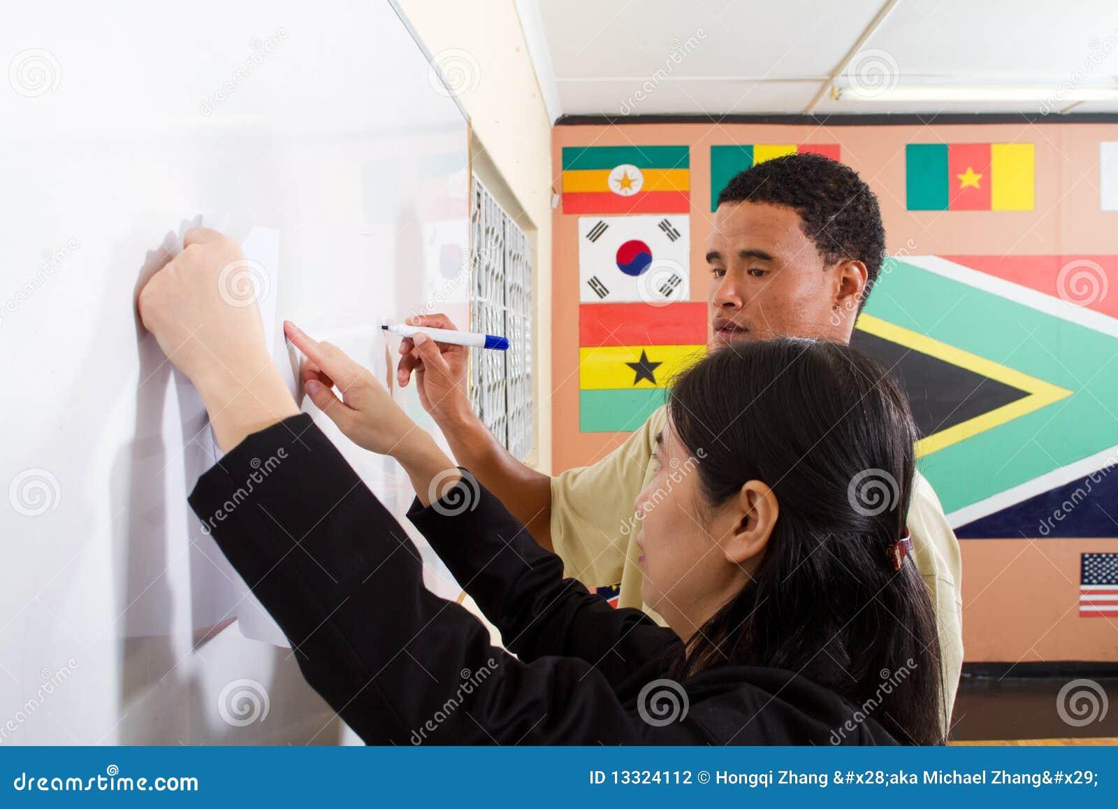 Het onderwijzende Chinese schrijven