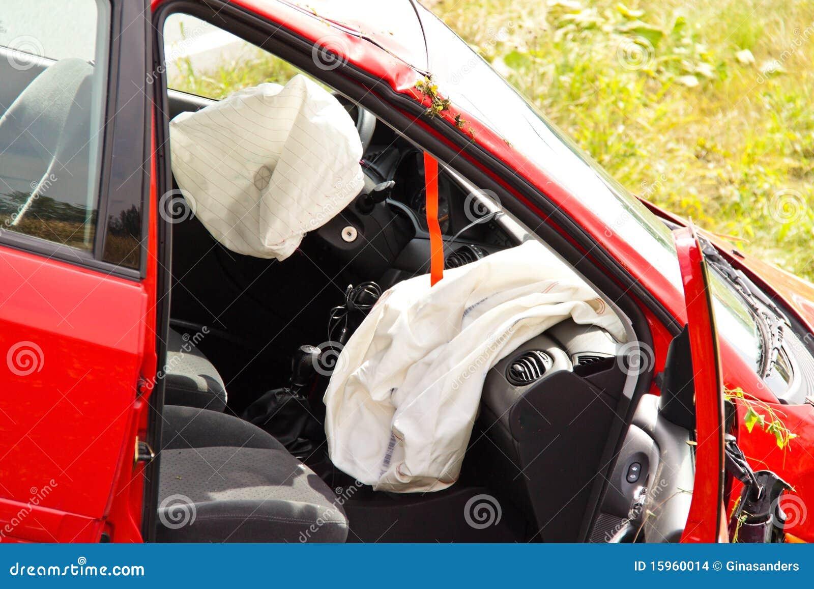 Het ongeval van het verkeer. Auto