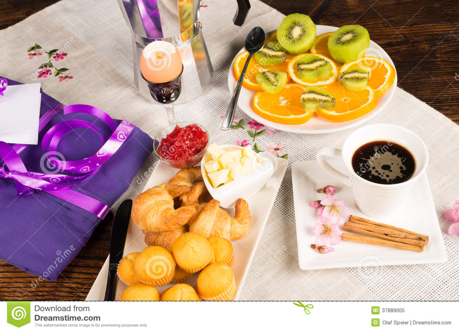 Het ontbijt van de vadersdag