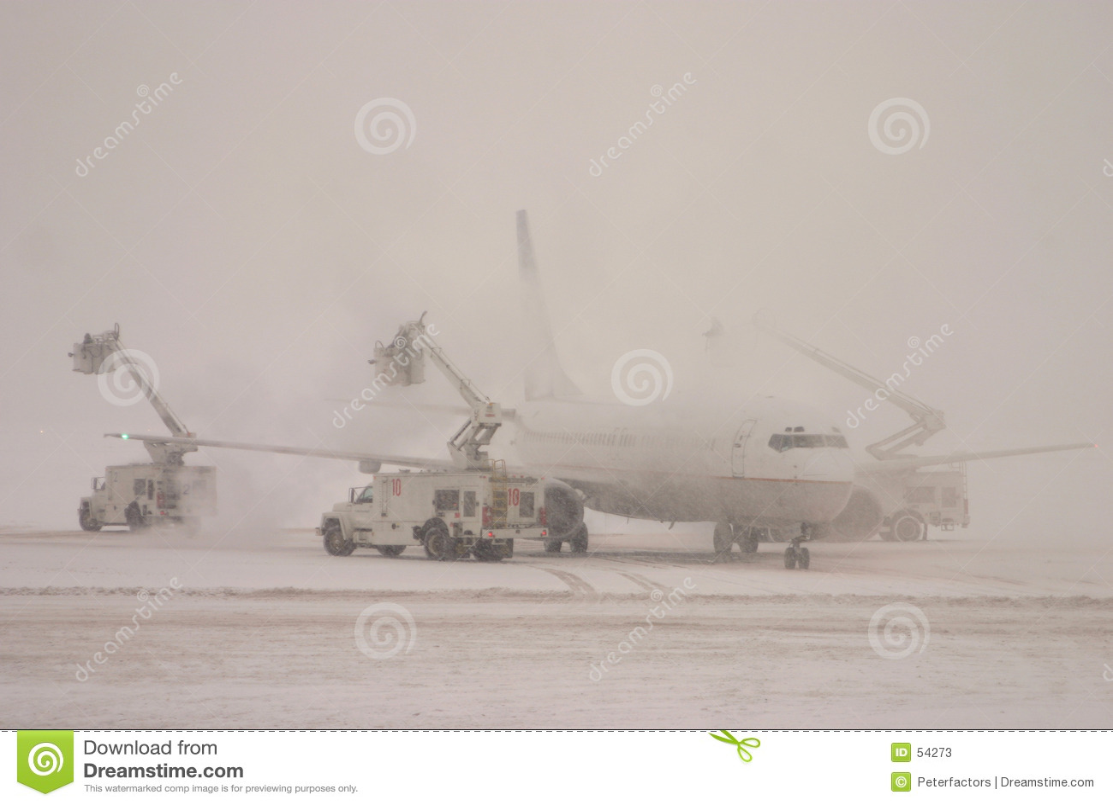 Het ontijzelen vliegtuig