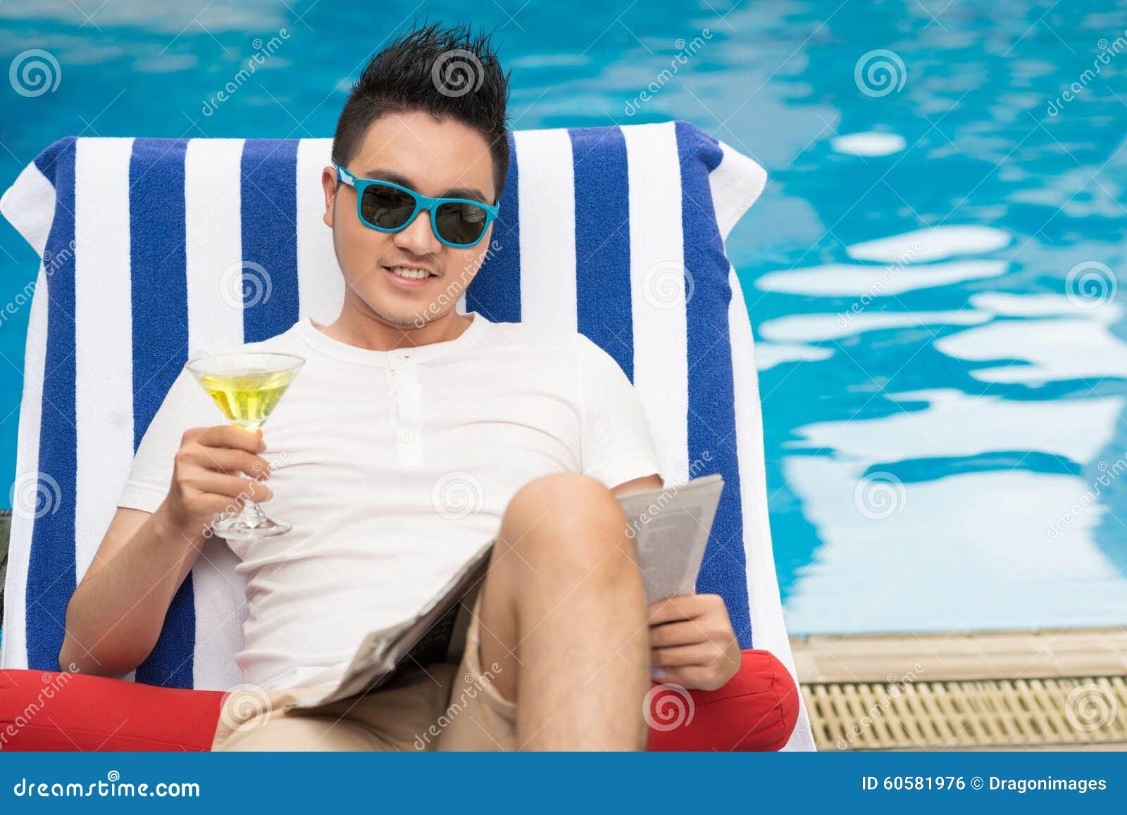 Het ontspannen bij pool