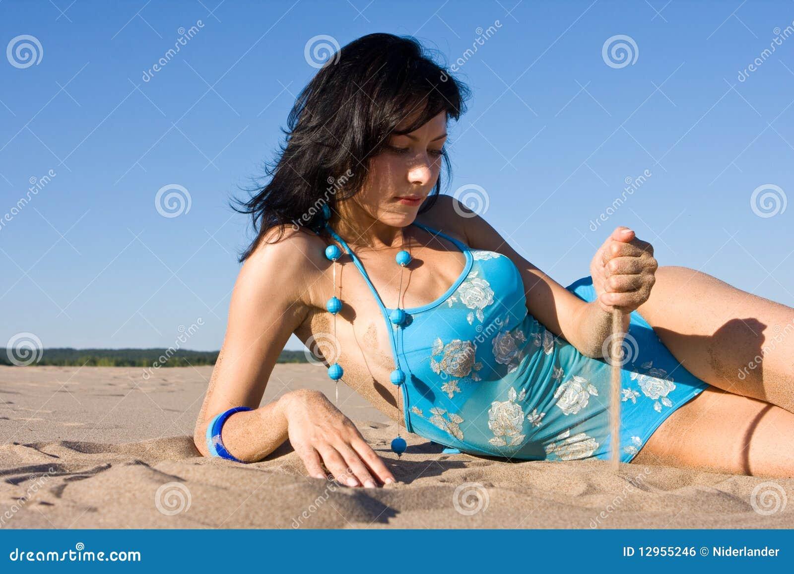 Het ontspannen op het strand