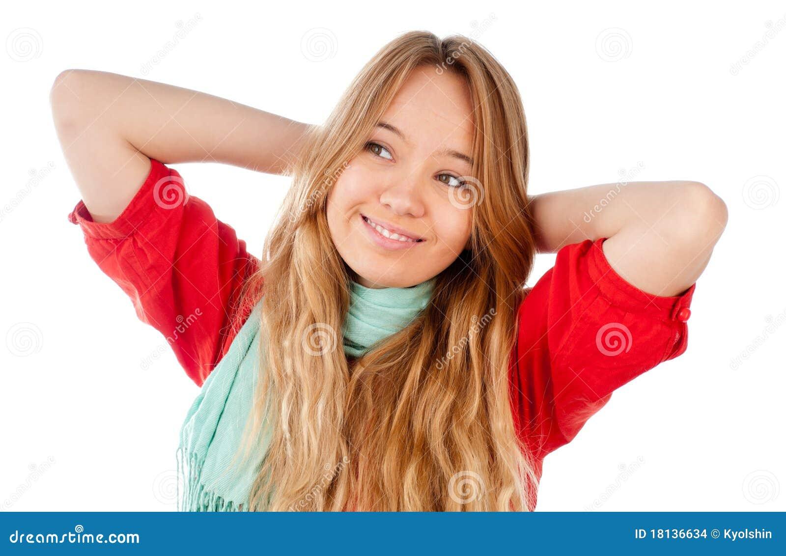 Het ontspannen van de tiener stock foto afbeelding 18136634 - Het versieren van de tiener kamer ...