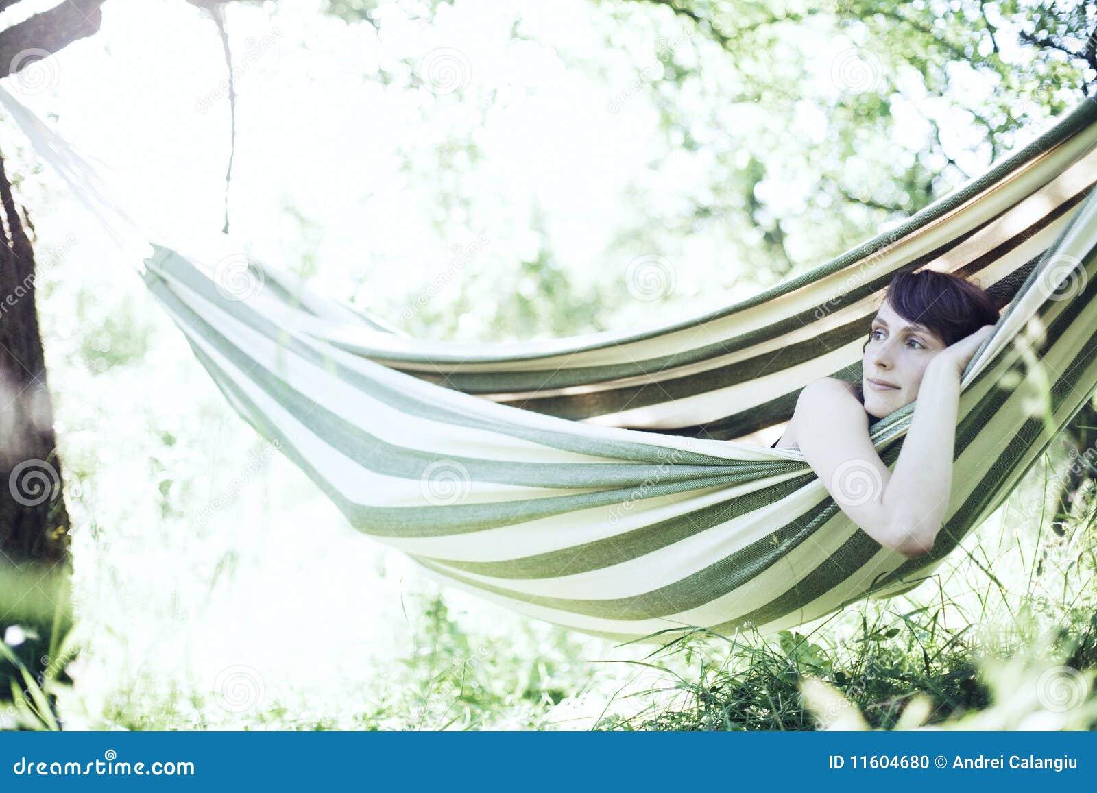 Het ontspannen van de vrouw