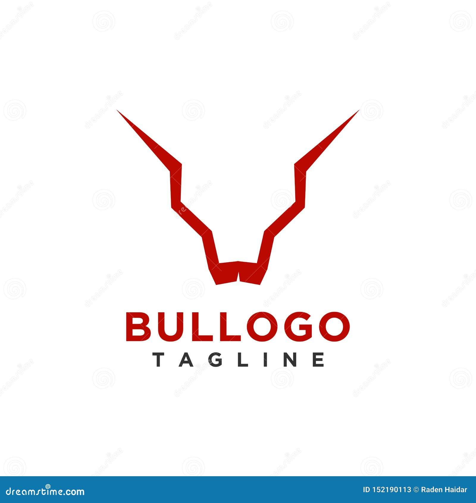Het ontwerp eenvoudige minimalistische stijl van het stierenembleem voor zaken of bedrijfmerk
