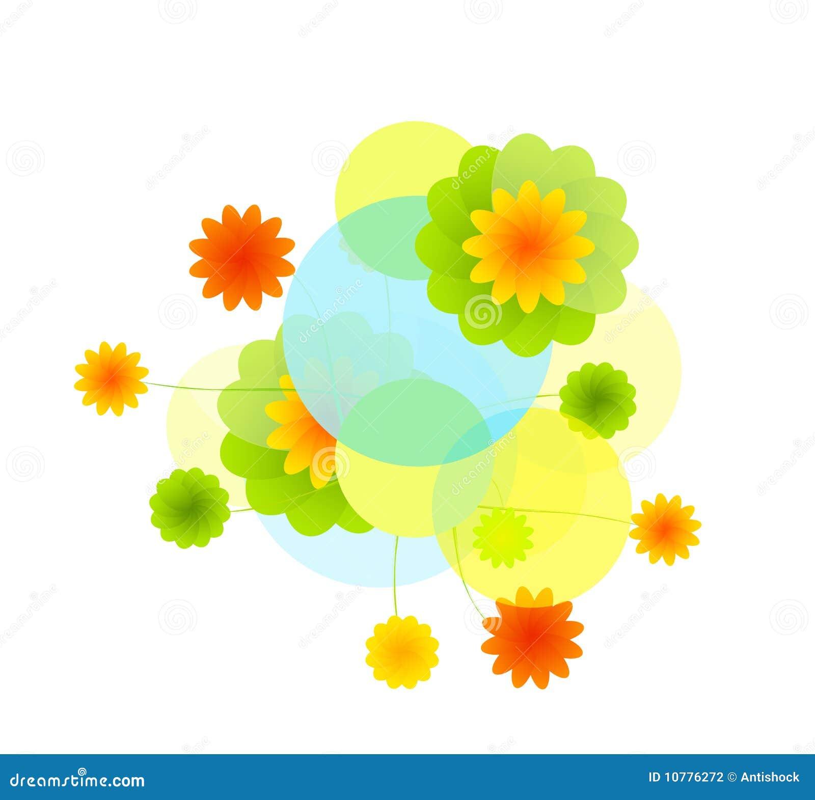 Het ontwerp van bloemen met plaats voor uw tekst