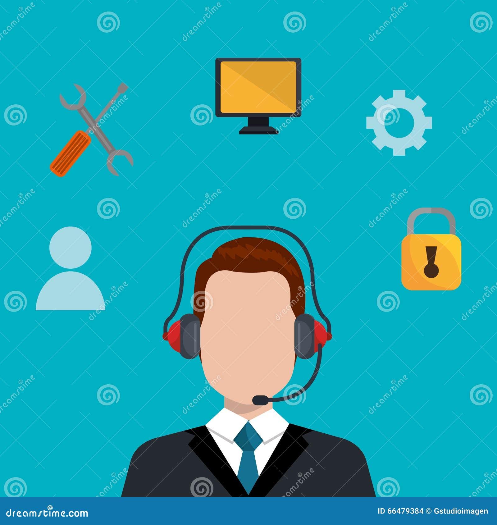Het ontwerp van de call centredienst stock illustratie afbeelding 66479384 - Separateur van stuk ontwerp ...