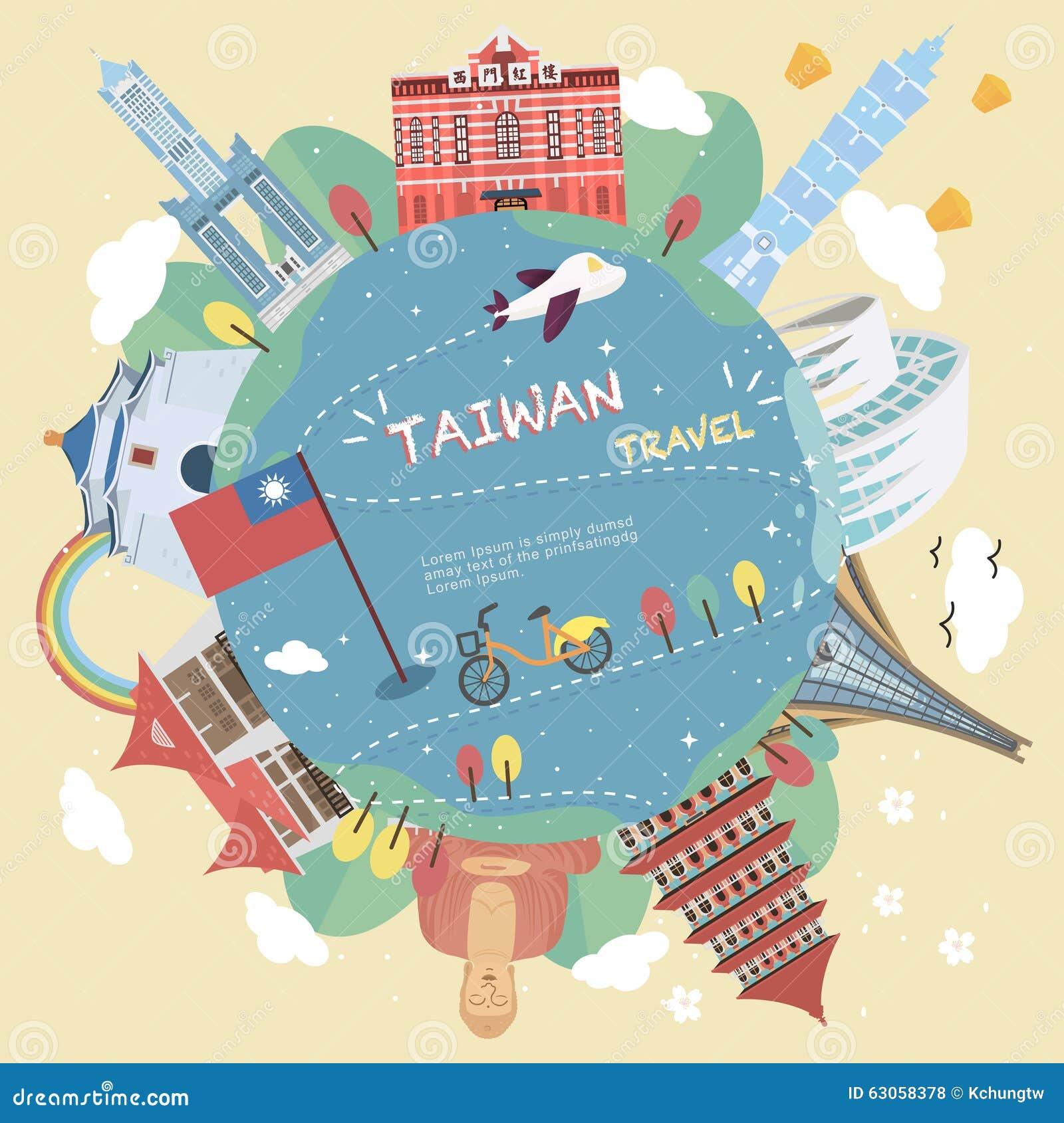 Het ontwerp van de de reisaffiche van Taiwan