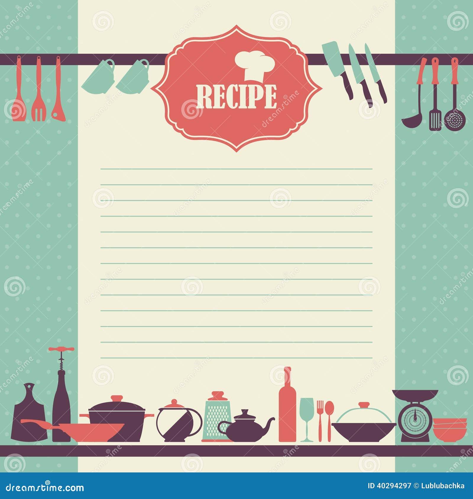 Het ontwerp van de receptenpagina de uitstekende pagina van het stijl kokende boek vector - Decoratie stijl van de bergen ...