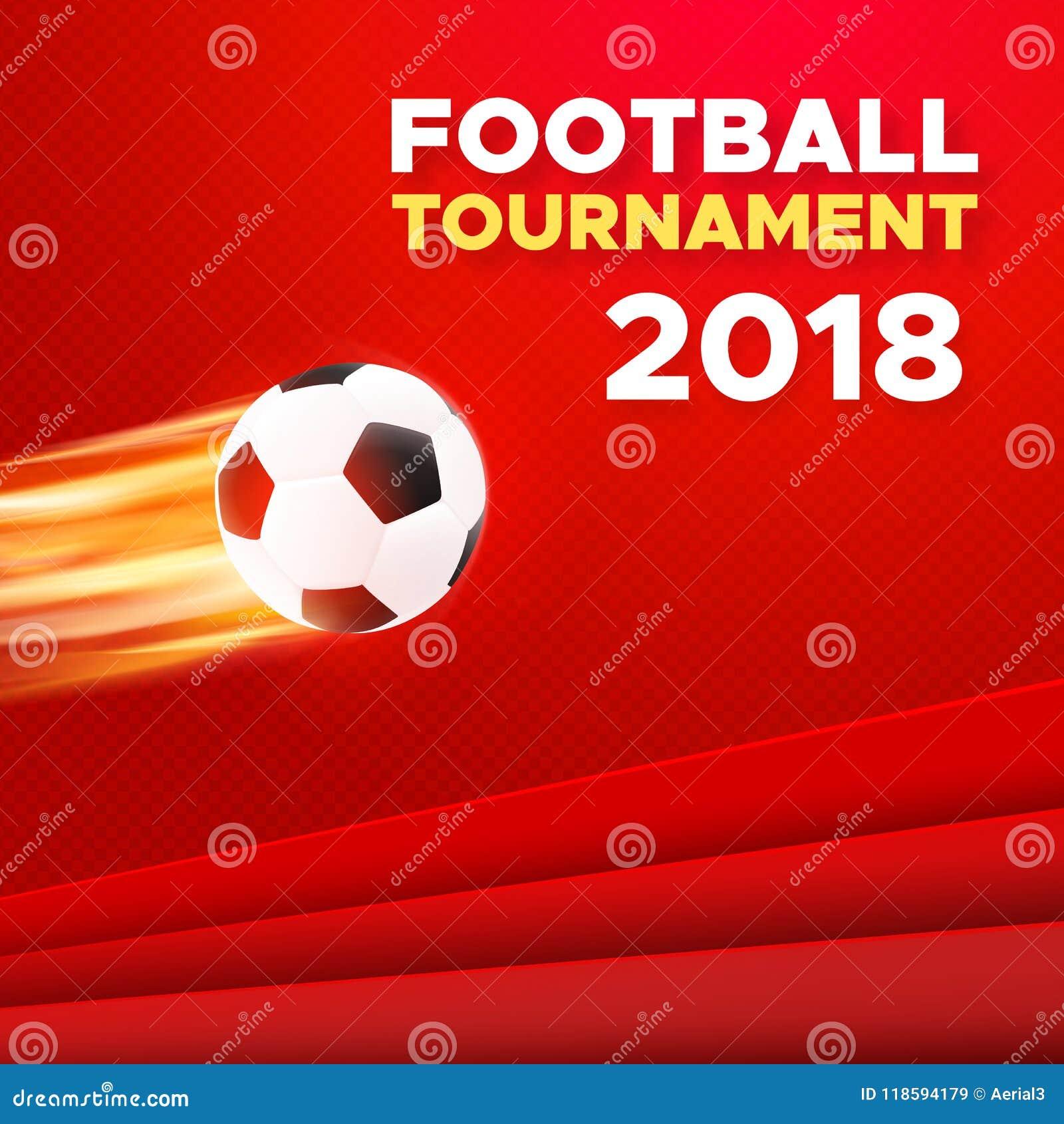 Het ontwerp van de voetbal 2018 affiche De kleuren van Rusland