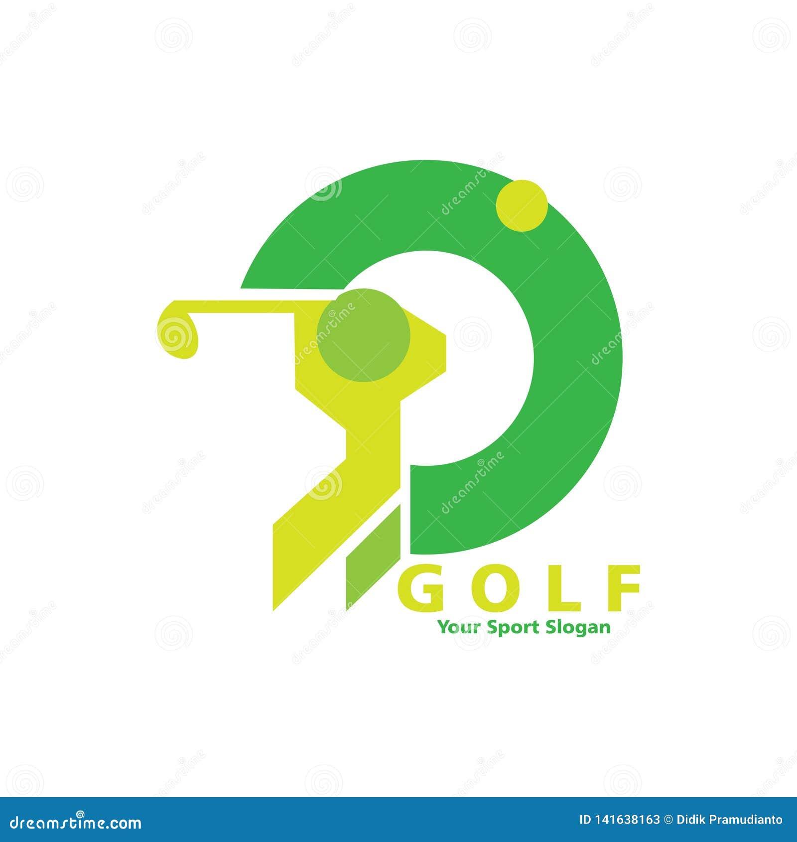 Het ontwerp van het golfembleem