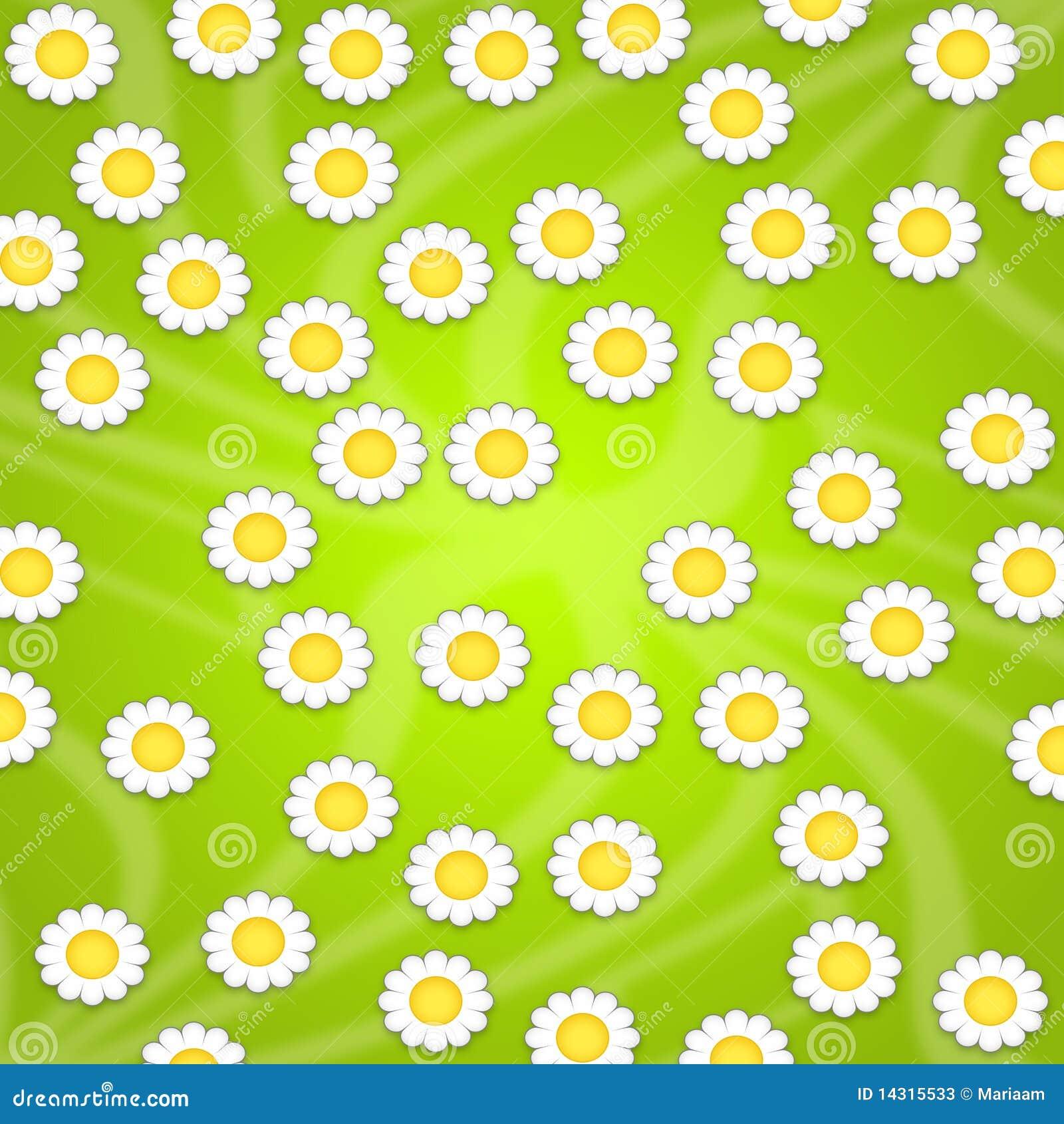 Het ontwerp van het behang met madeliefjes stock foto 39 s beeld 14315533 - Behang grafisch ontwerp ...