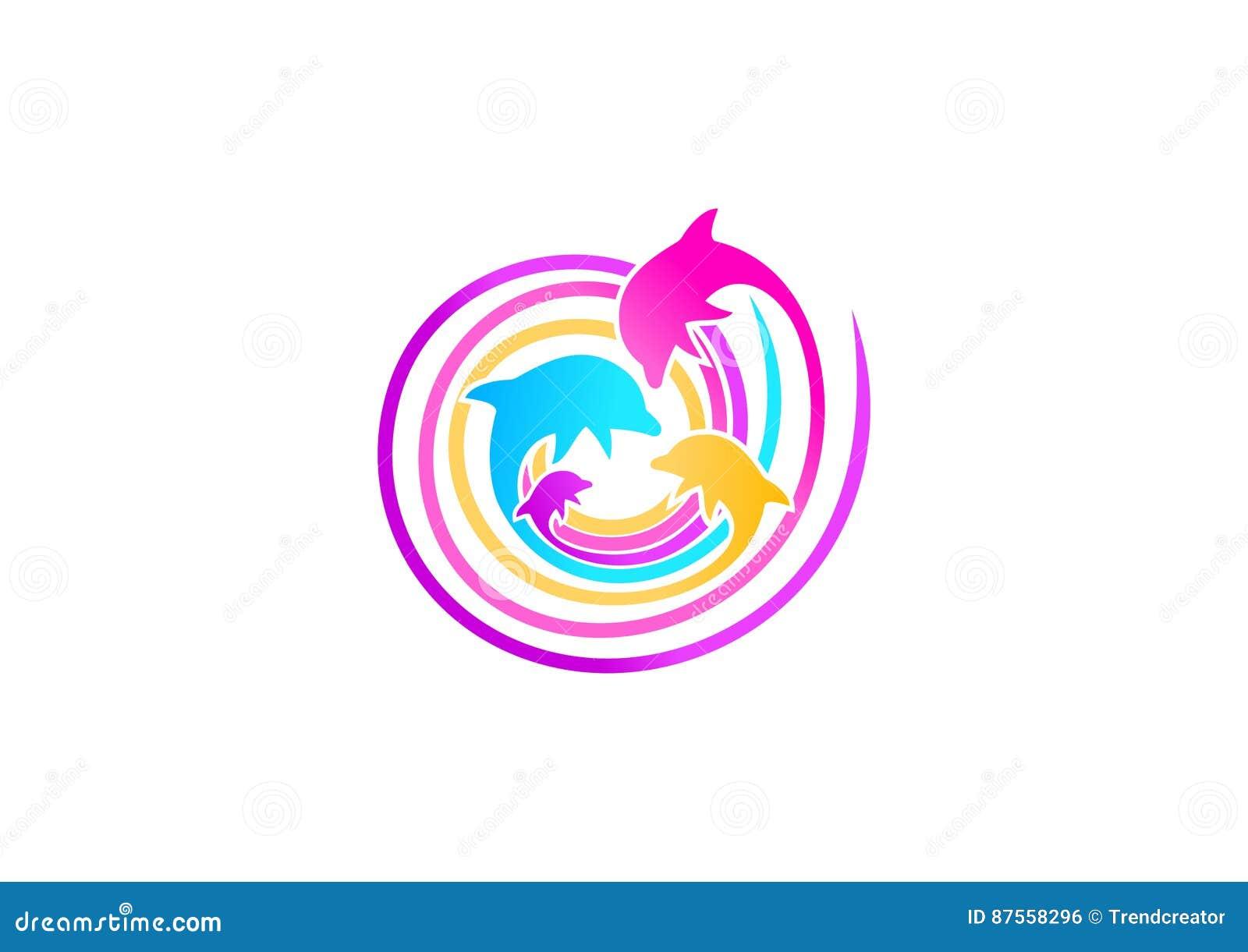 Het ontwerp van het dolfijnembleem