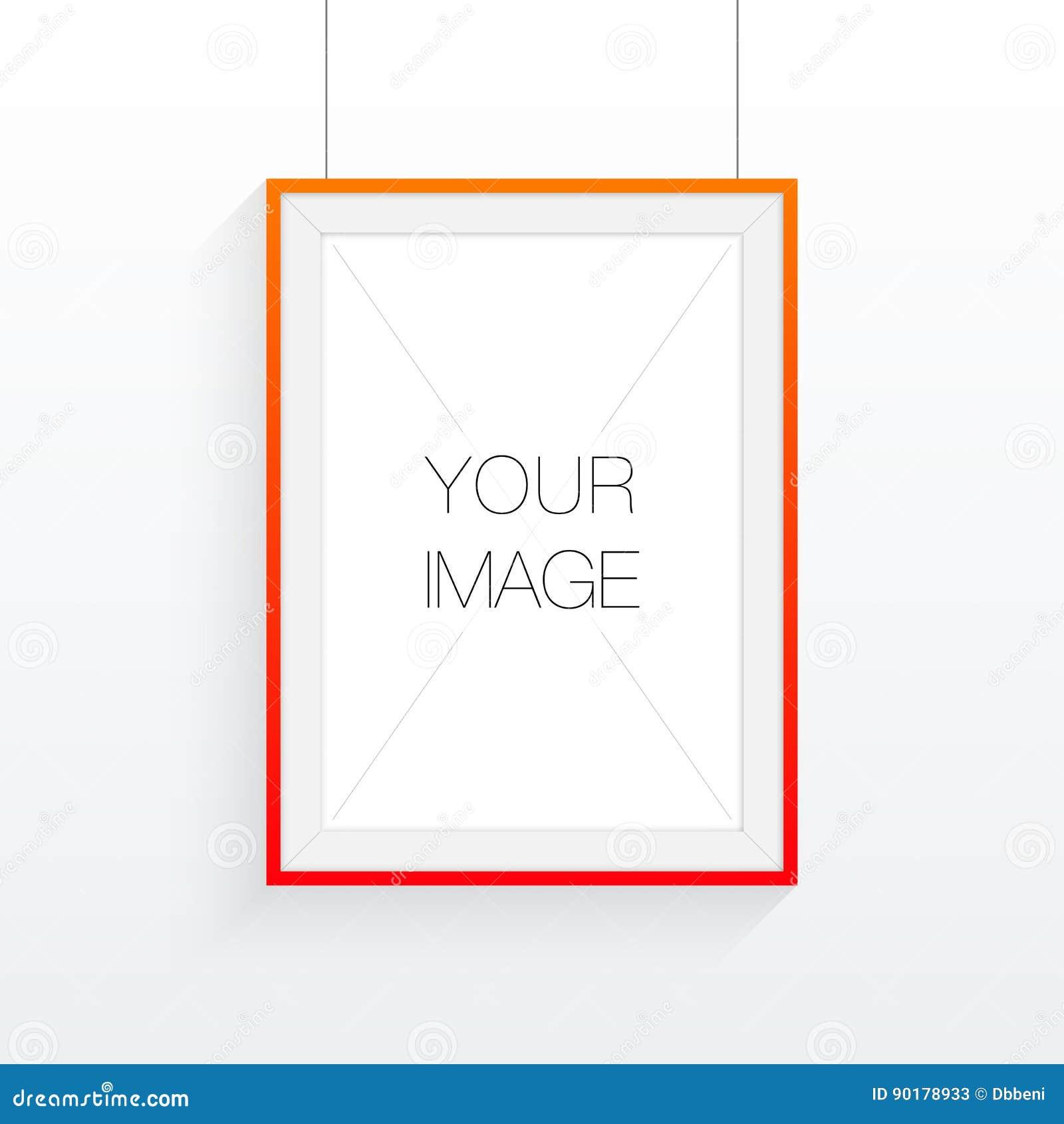 A4 / A3 het ontwerp van het formaatkader met uw tekst of beeld