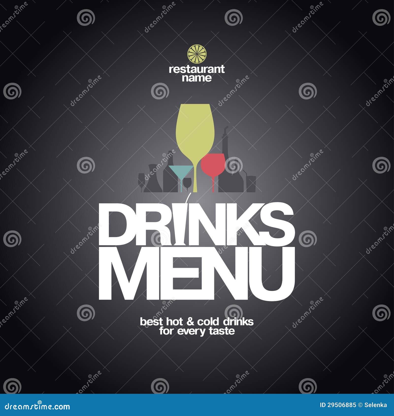 Het Ontwerp van het Menu van dranken.