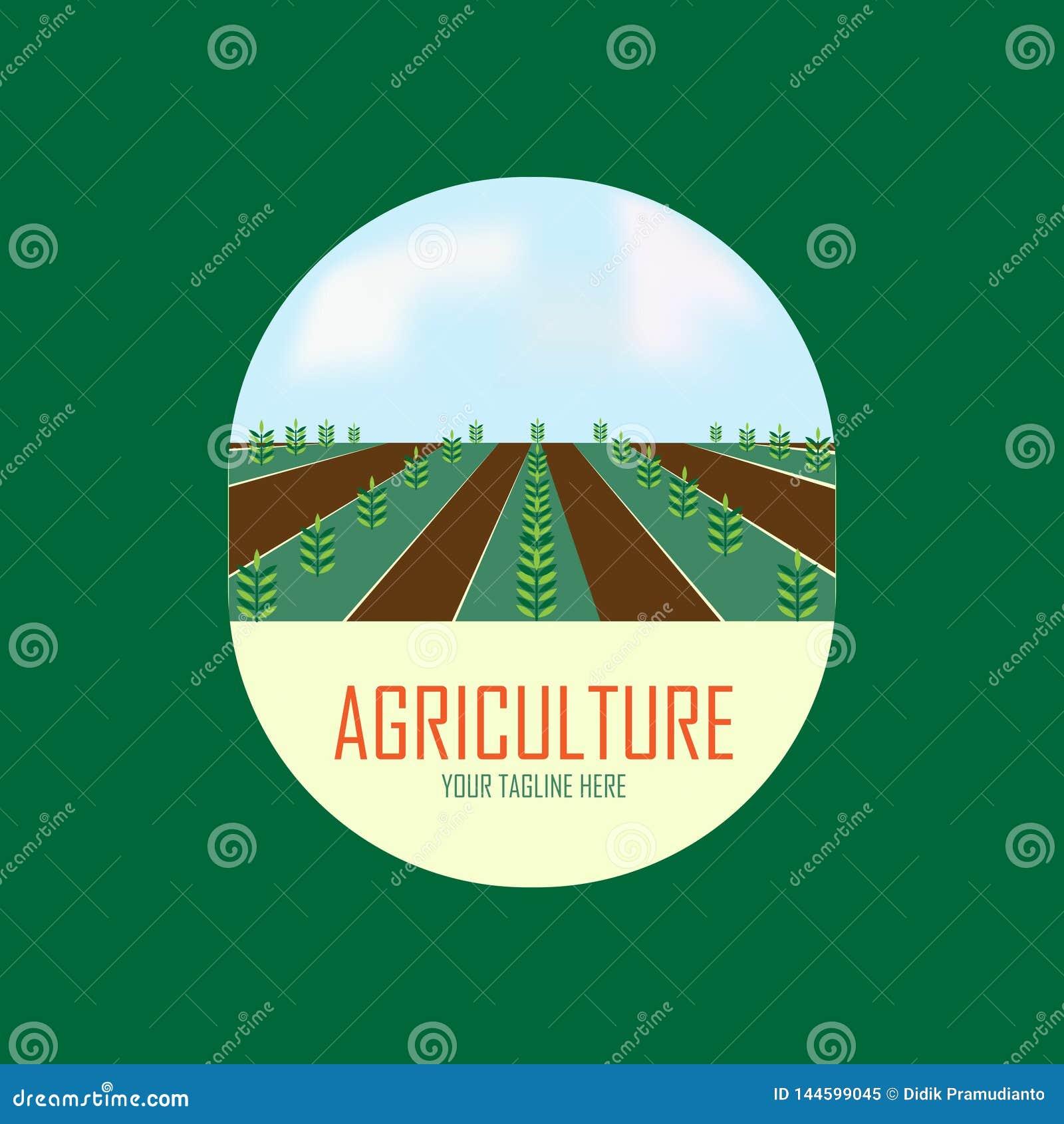 Het ontwerp van het landbouwembleem met boom
