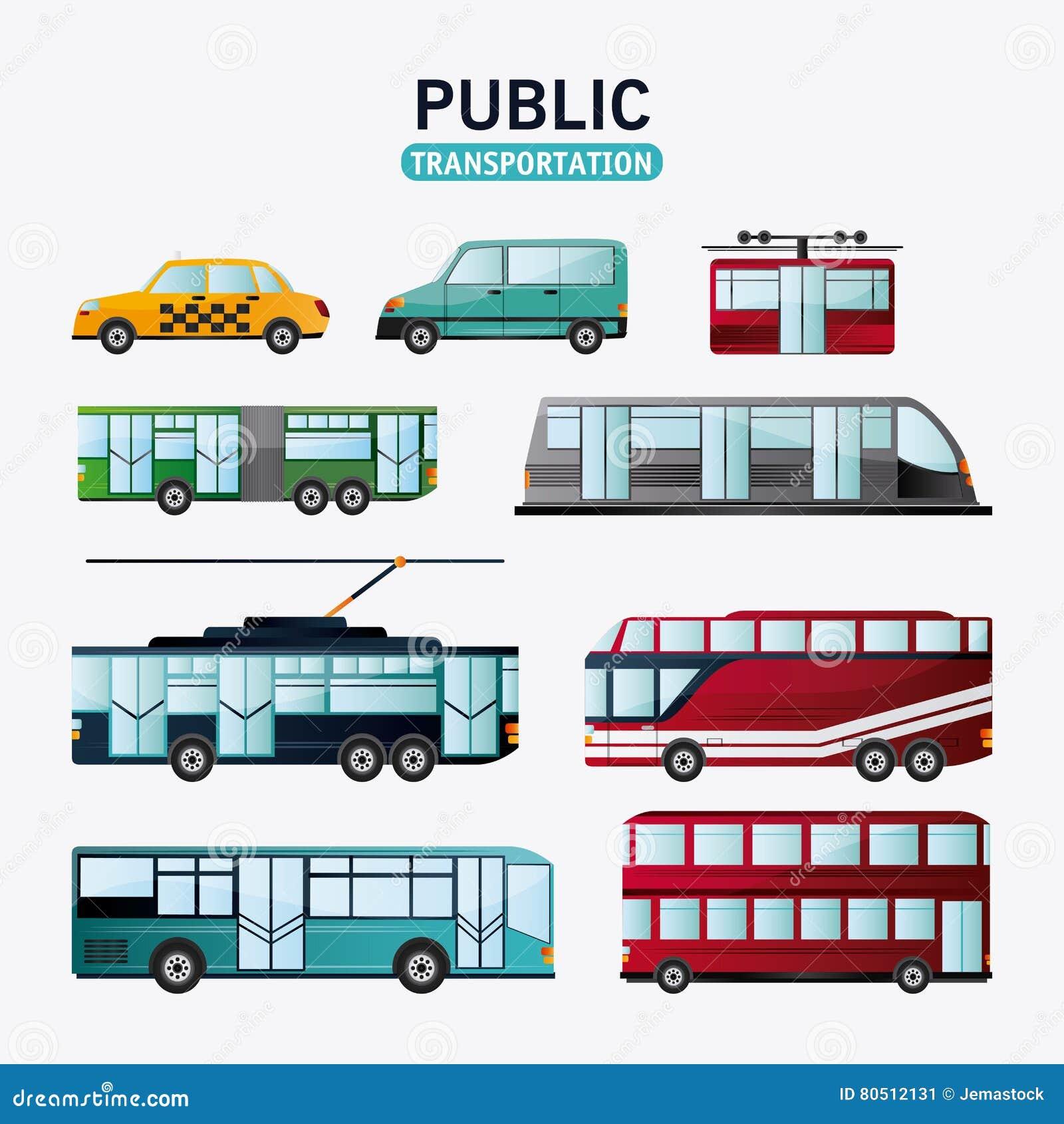 Het ontwerp van openbaar vervoervoertuigen