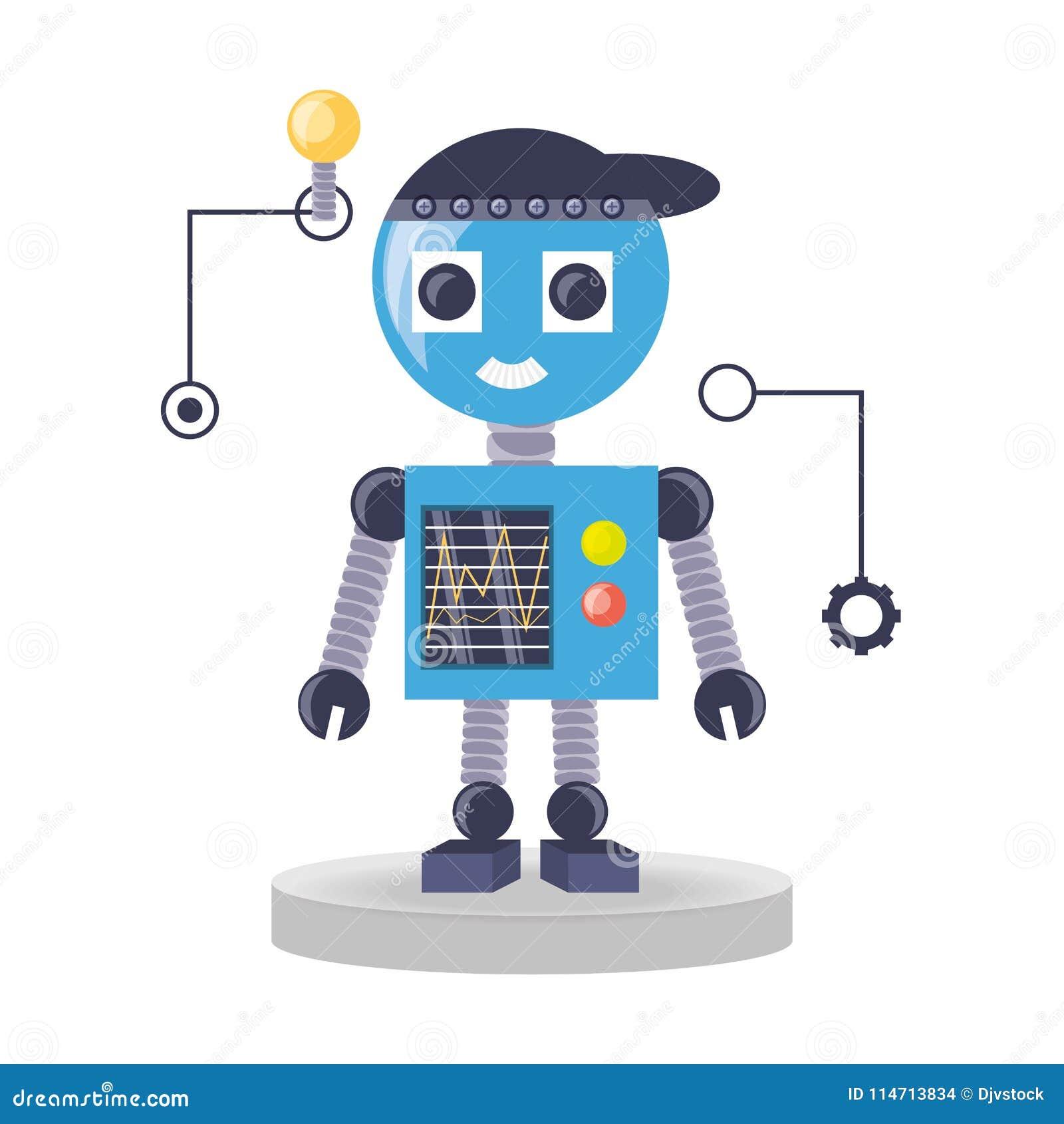 Het ontwerp van het robotbeeldverhaal