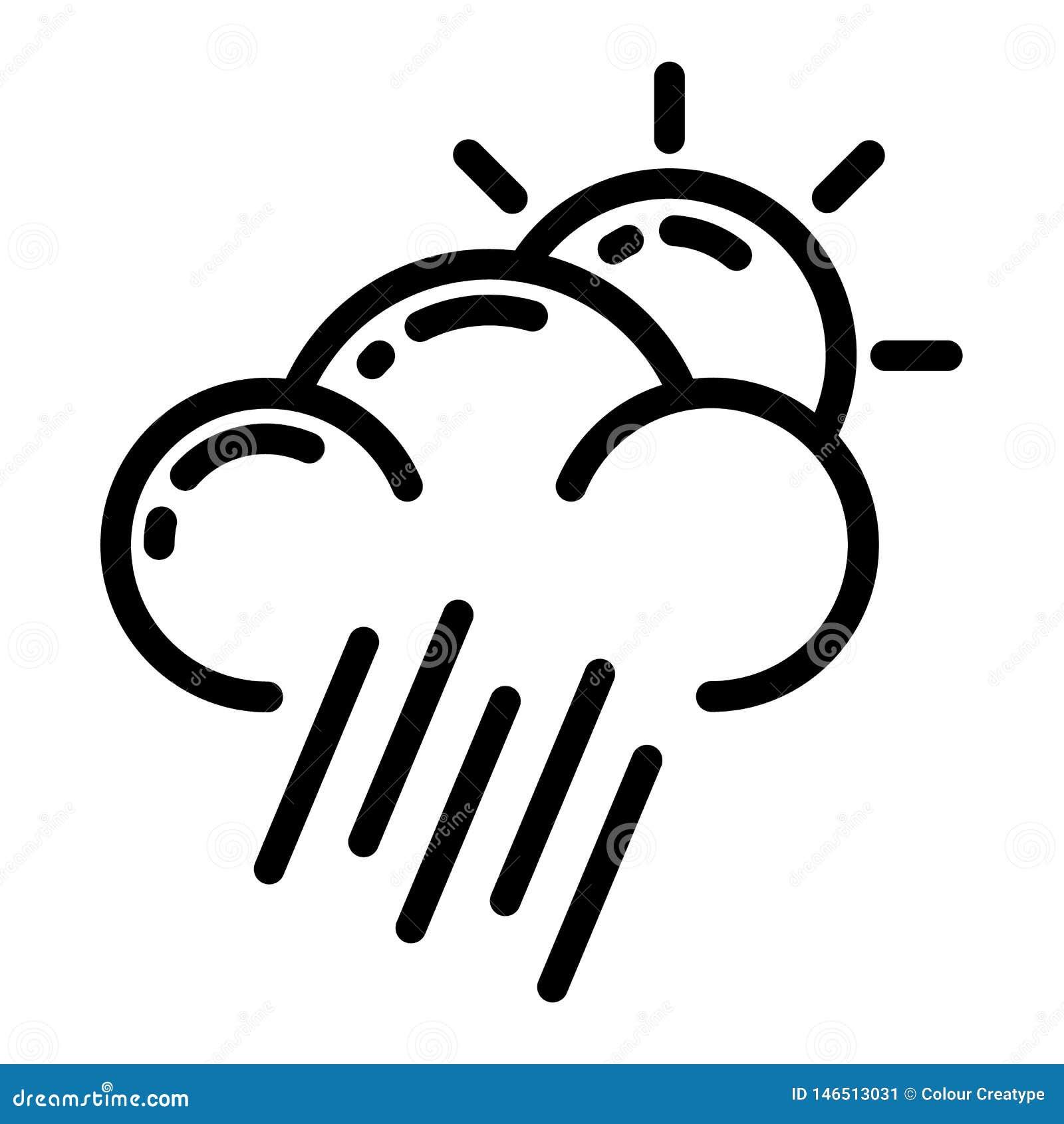 Het ontwerp van het weerpictogram